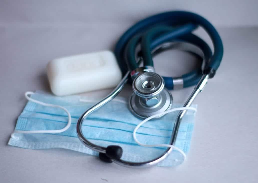 mask stethoscope soap