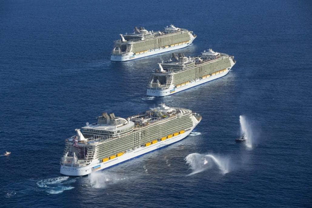 oasis class ships meet up royal caribbean