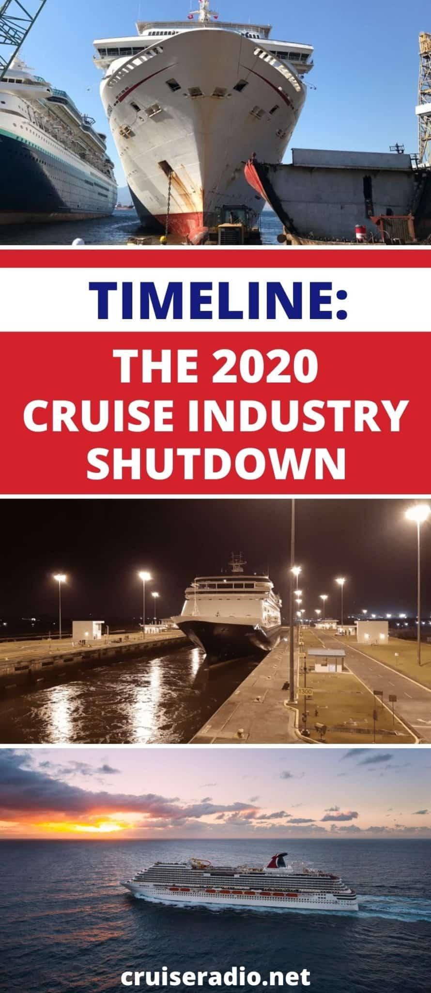 timeline cruise industry shutdown 2020