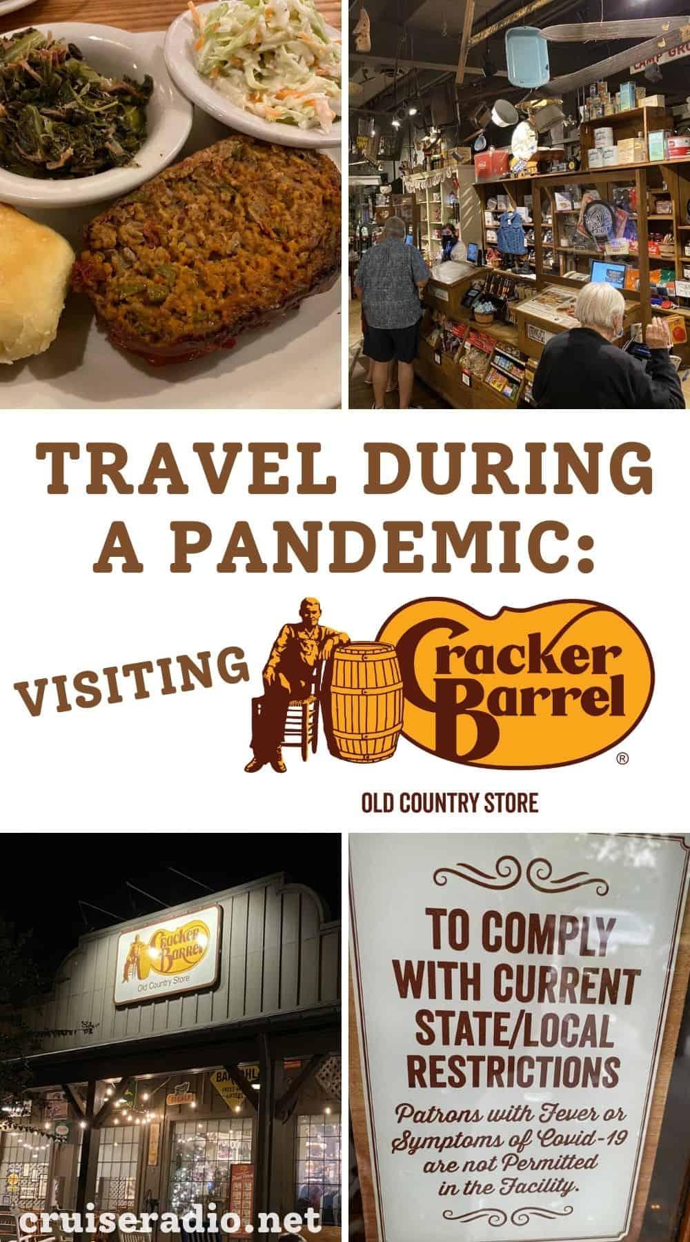 travel during a pandemic - visiting cracker barrel restaurant
