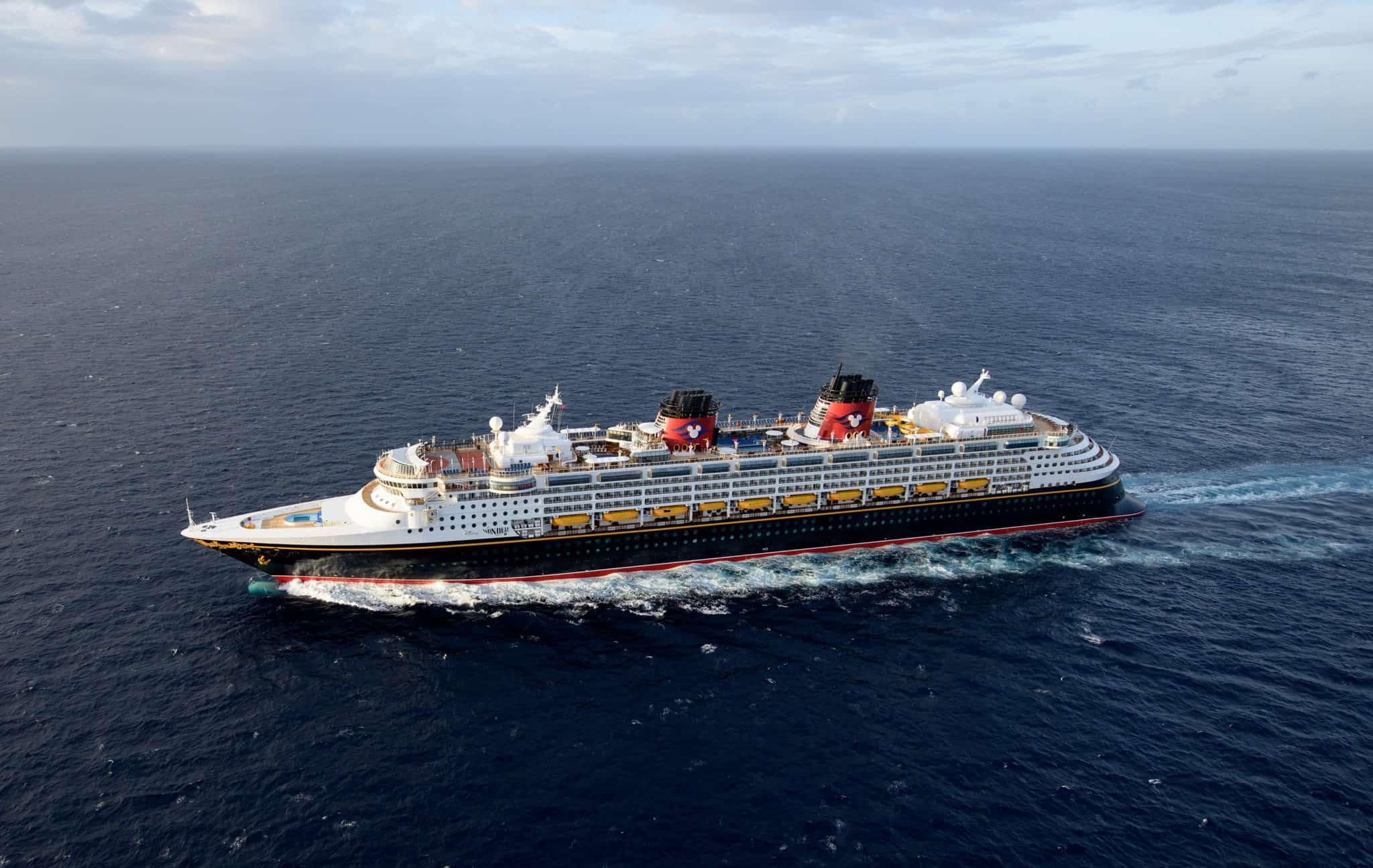 disney wonder aerial at sea