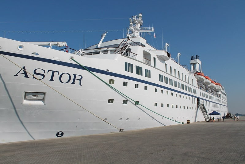 astor cruise ship beached