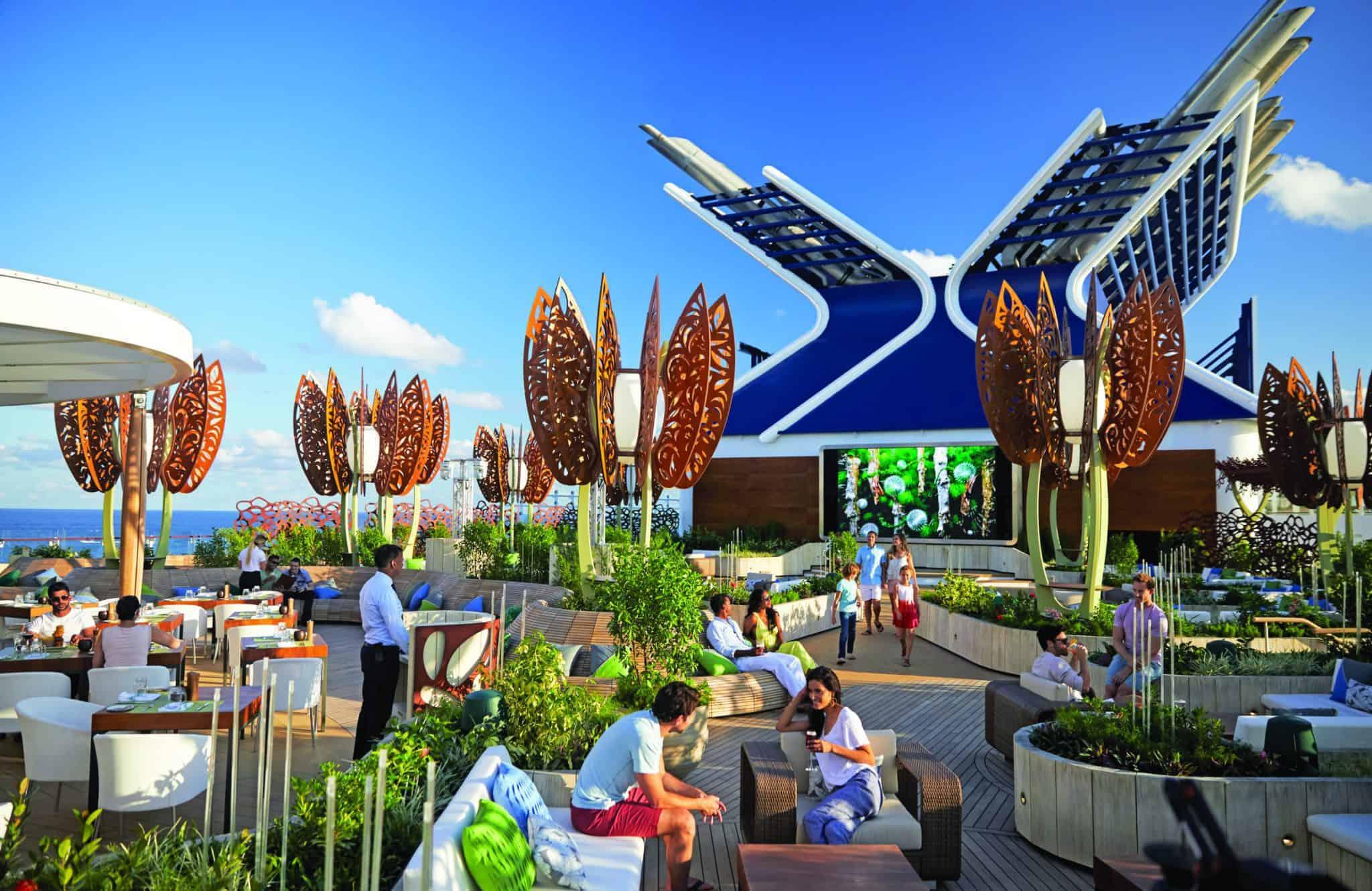 celebrity cruises rooftop garden