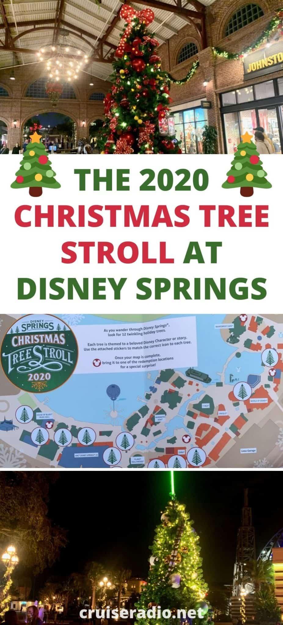 2020 christmas tree stroll disney springs