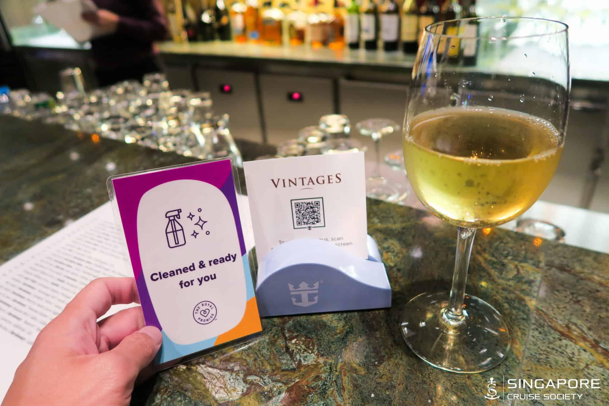 quantum of the seas singapore vintages wine bar