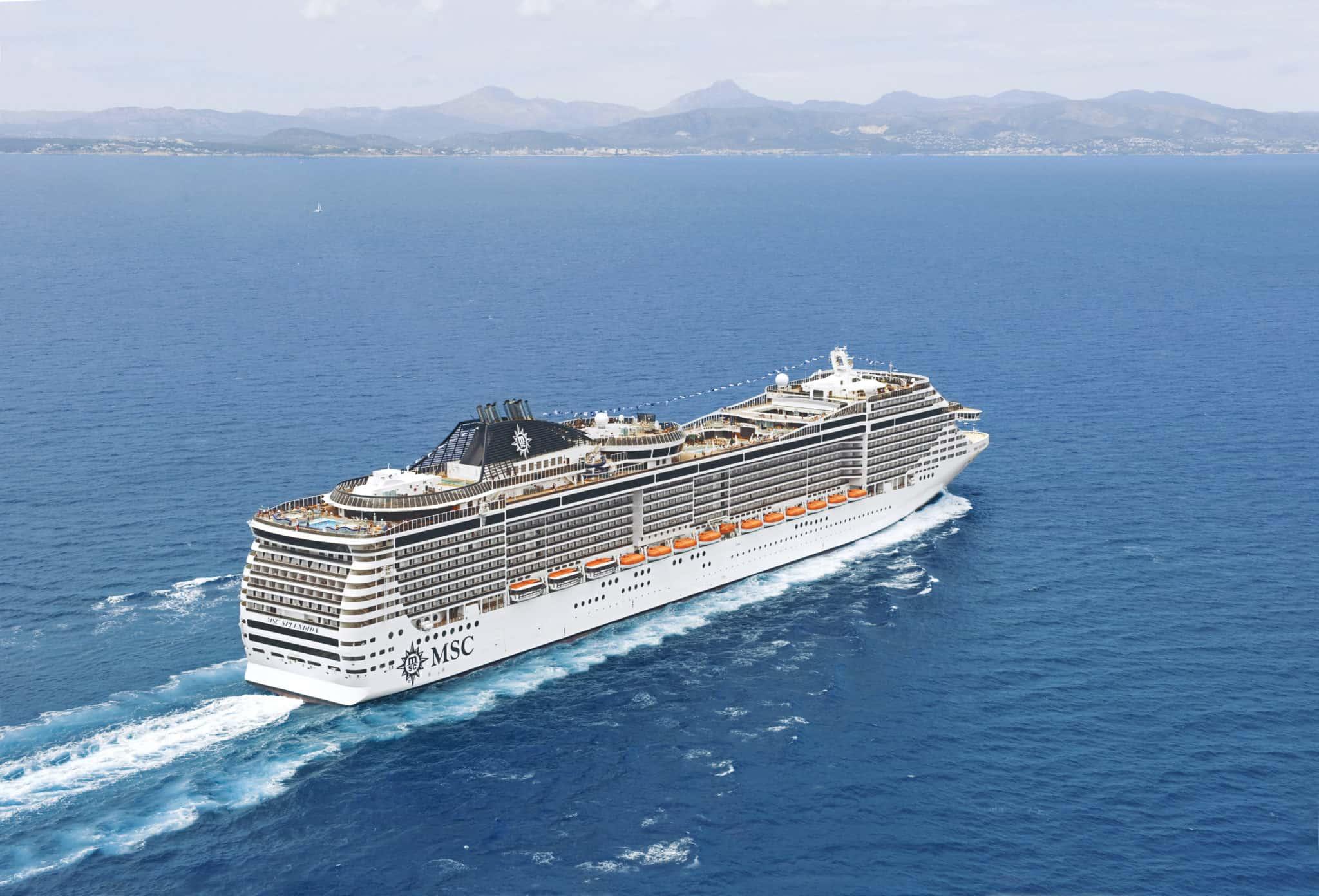 msc splendida cruise ship aerial