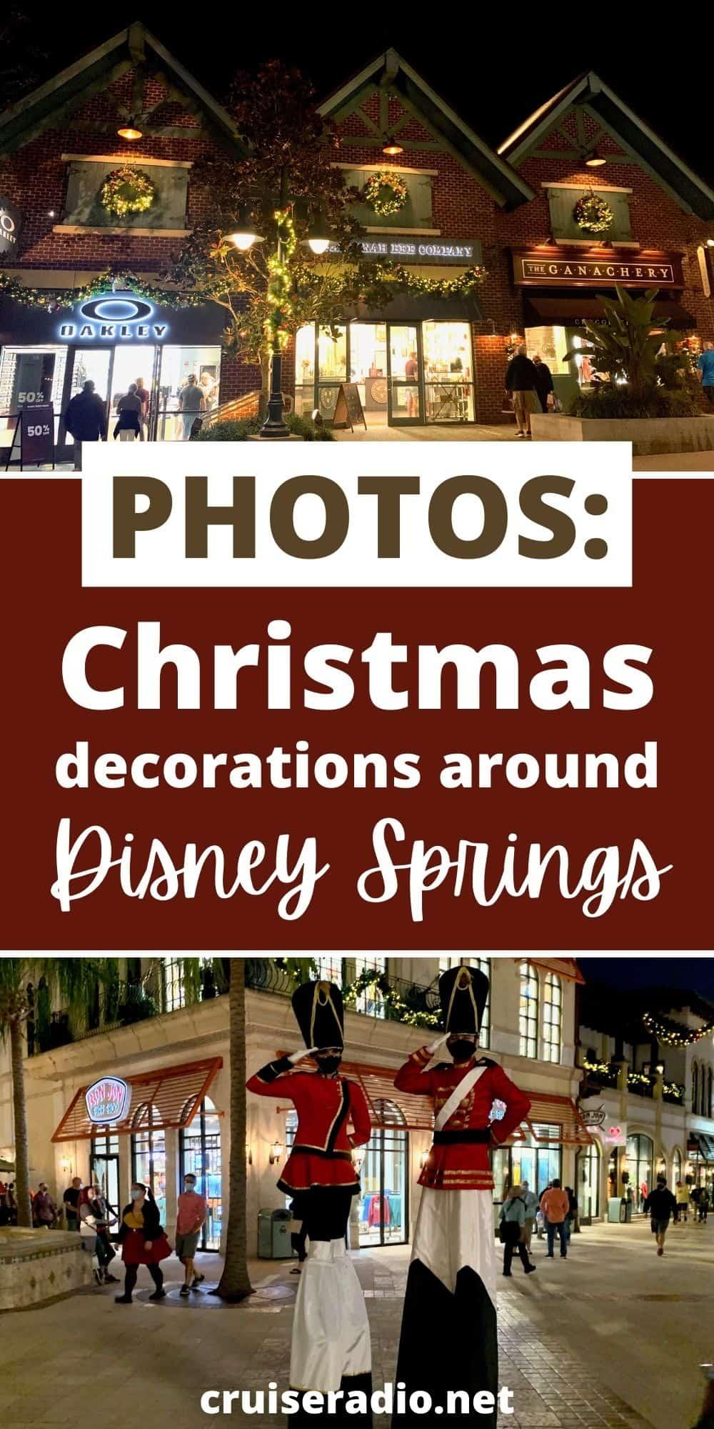 photos: christmas decorations around disney springs orlando