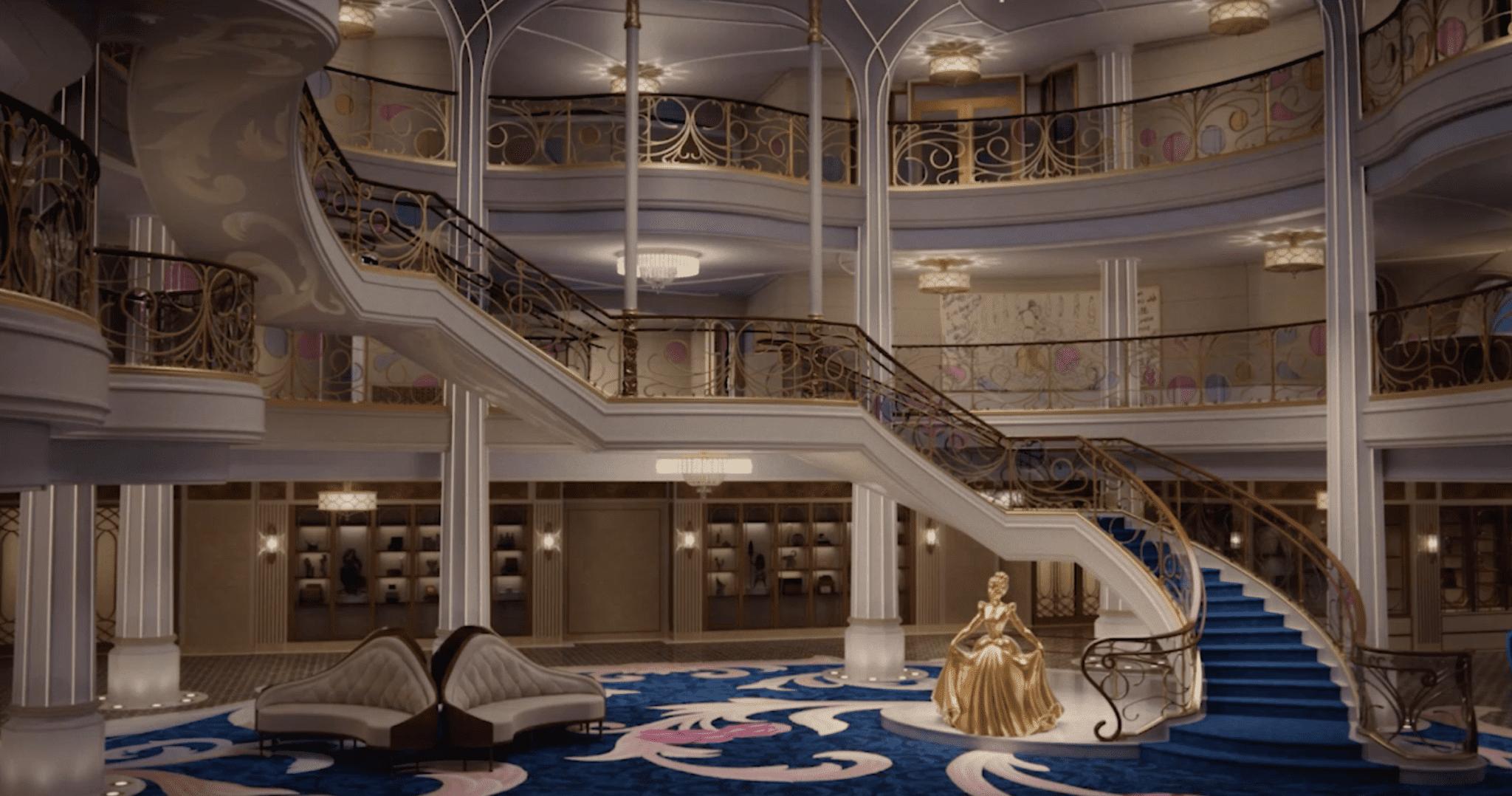 disney wish rendering grand hall atrium cinderella