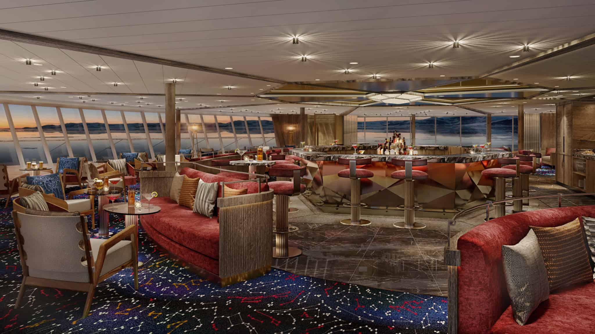constellation lounge seabourn venture rendering