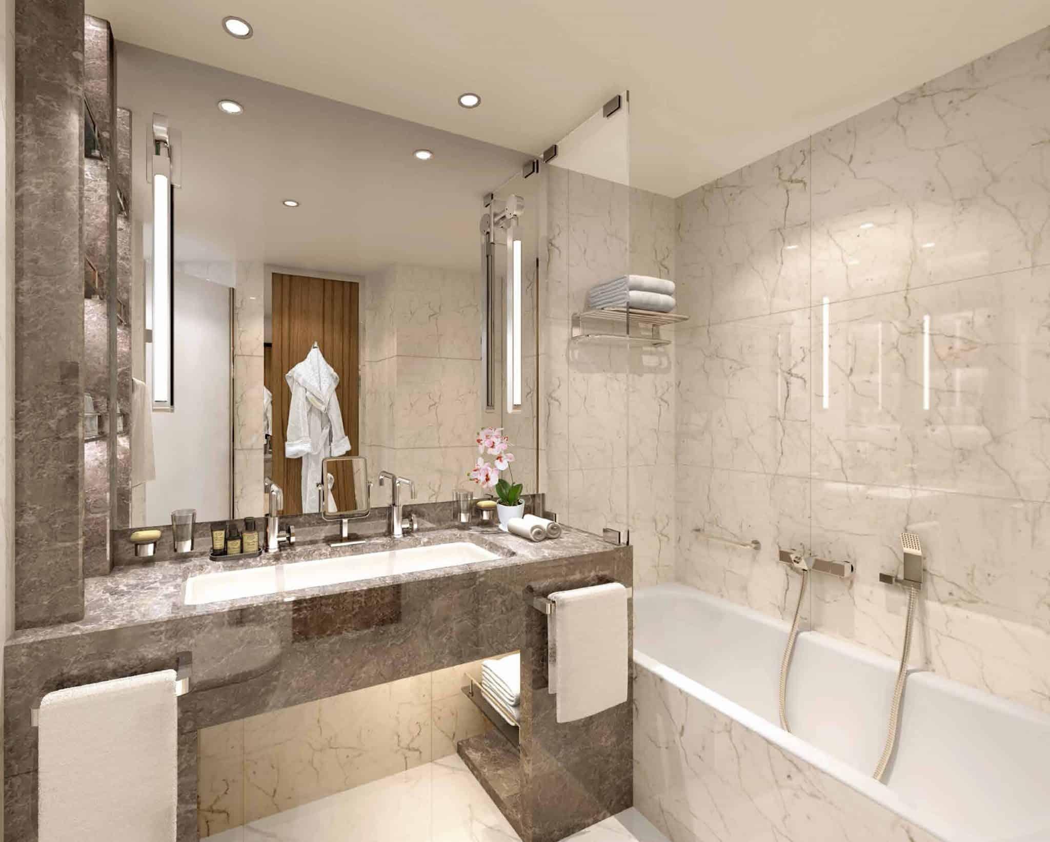 seabourn venture veranda suite bathroom rendering