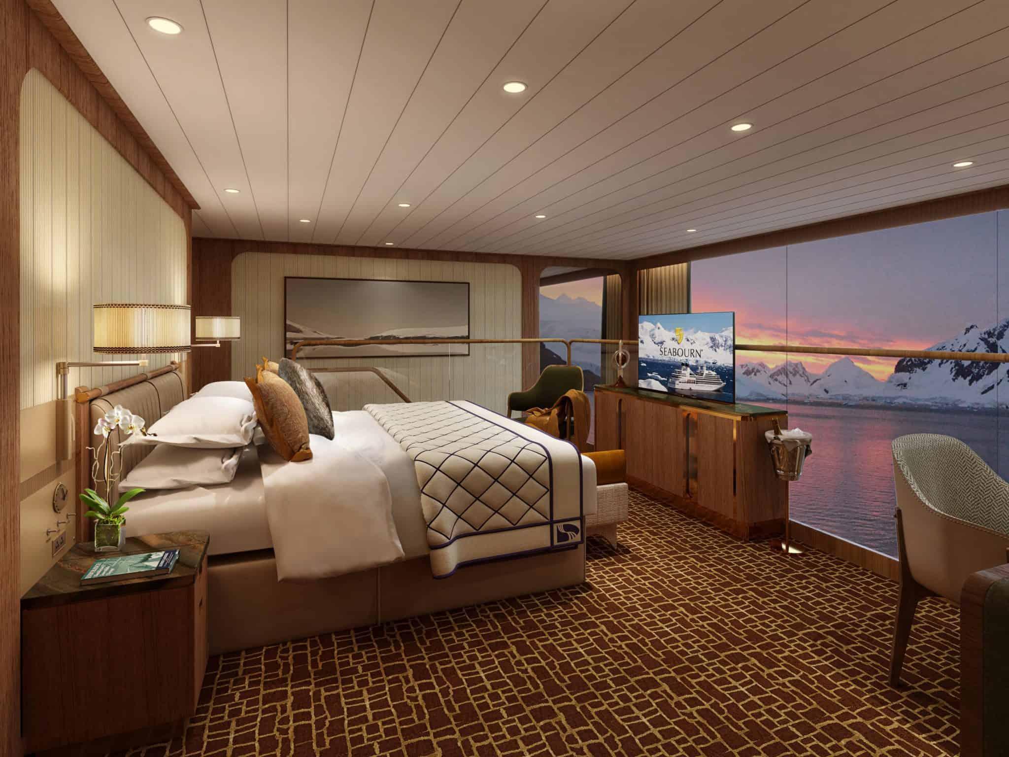 wintergarden suite bedroom seabourn rendering