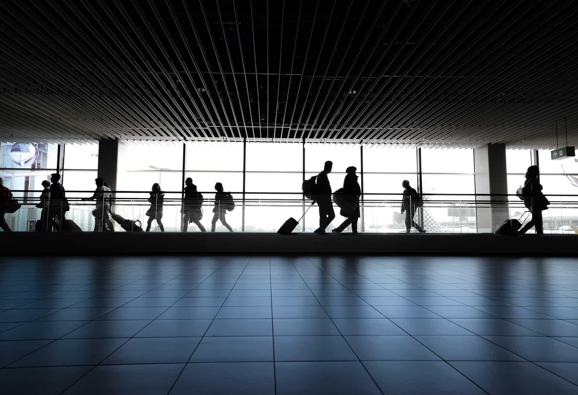 airport sidewalk terminal people pixabay