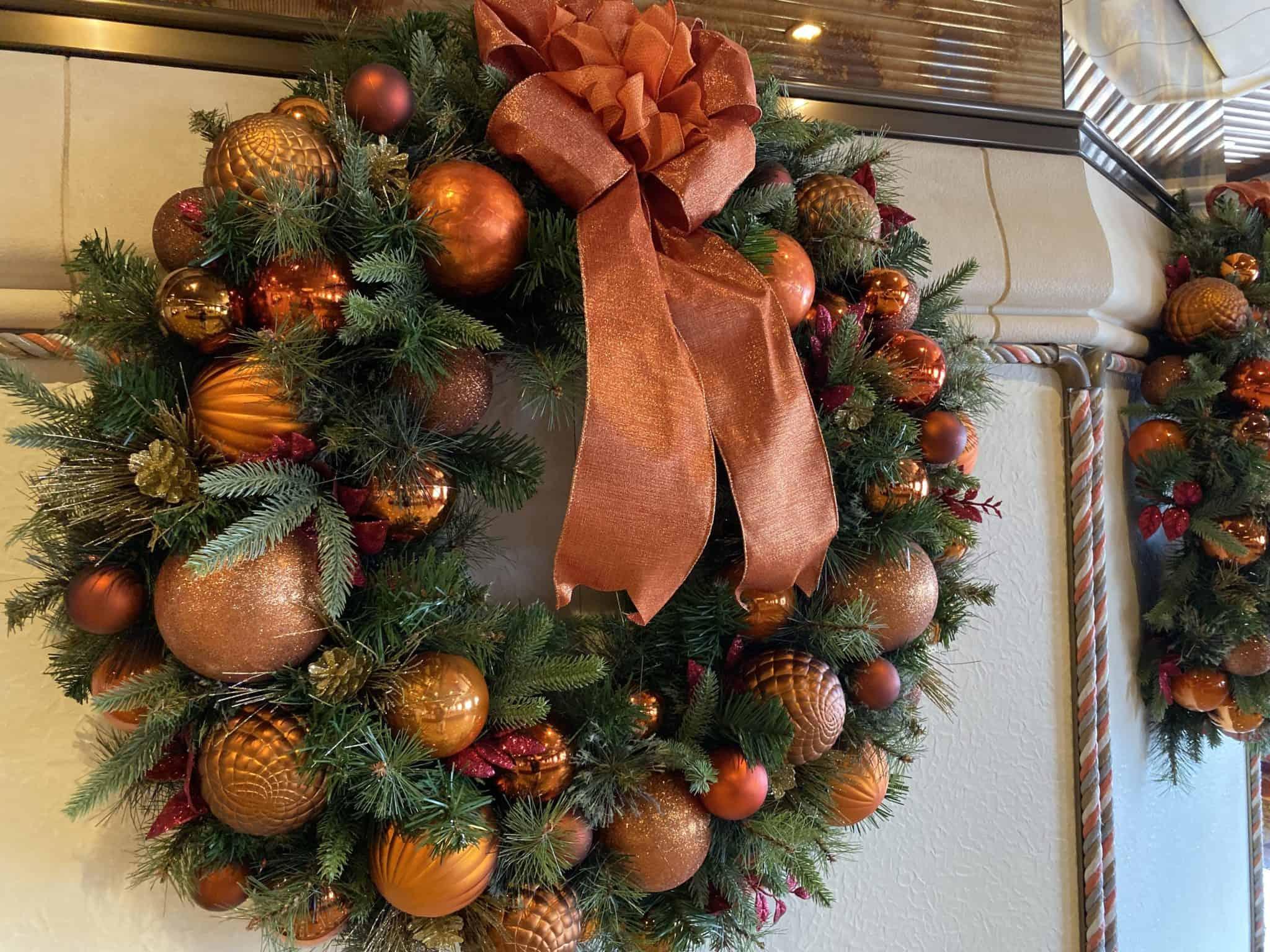 carnival pride christmas wreath