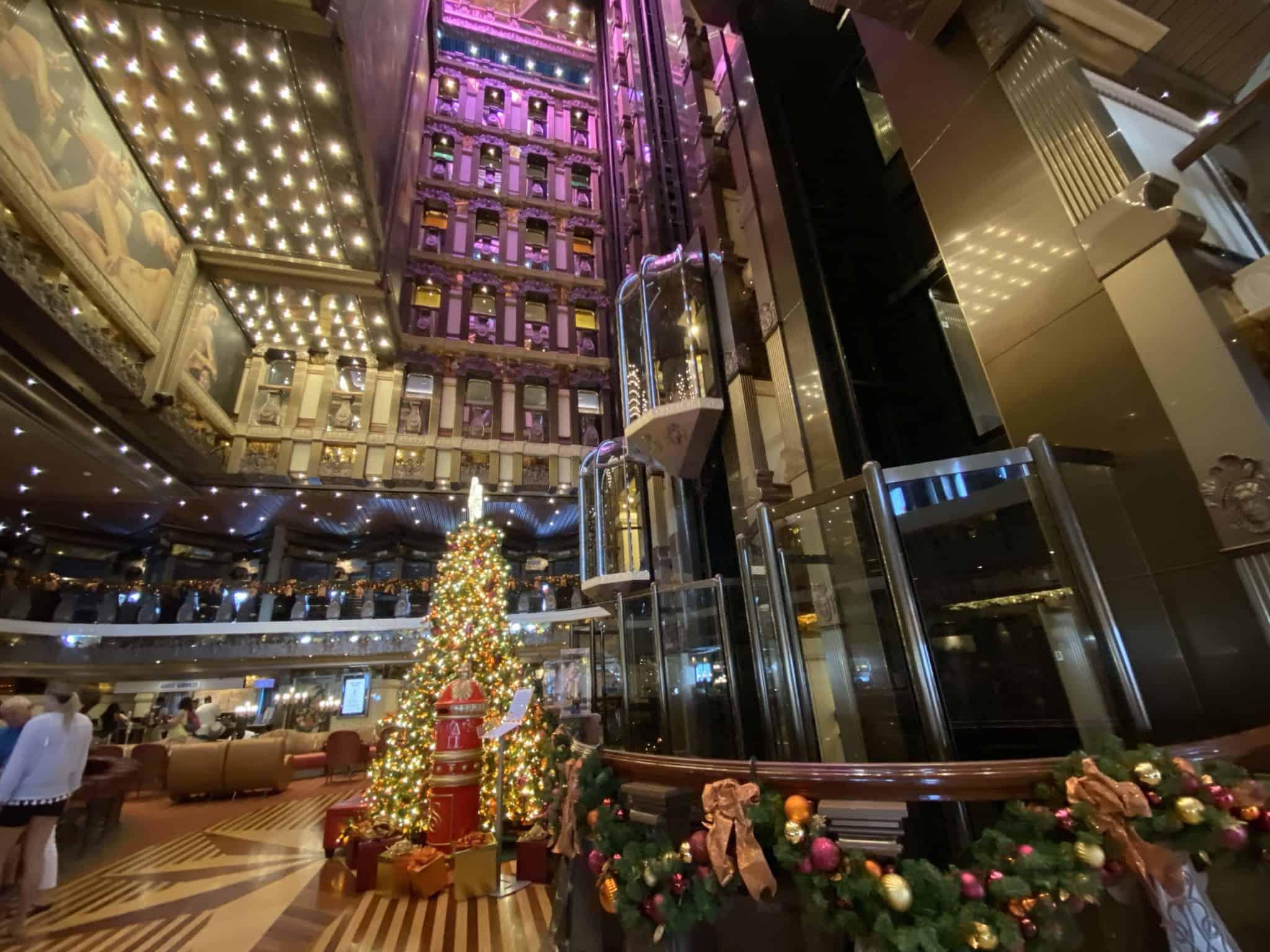 carnival pride atrium christmas