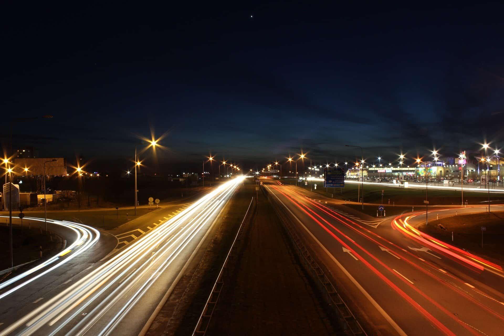 highway night drive pixabay