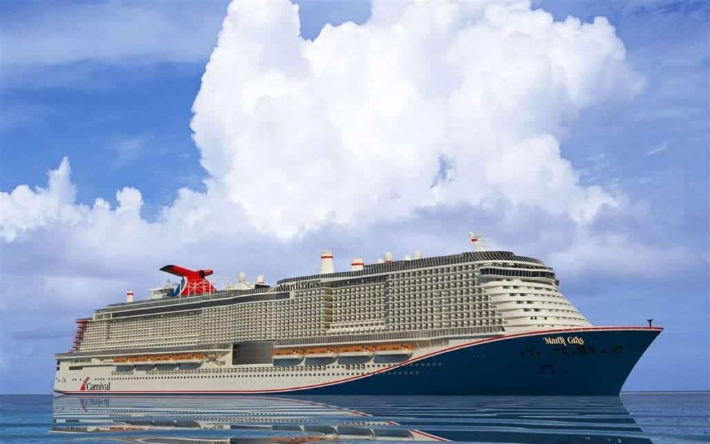 mardi gras rendering carnival cruise line