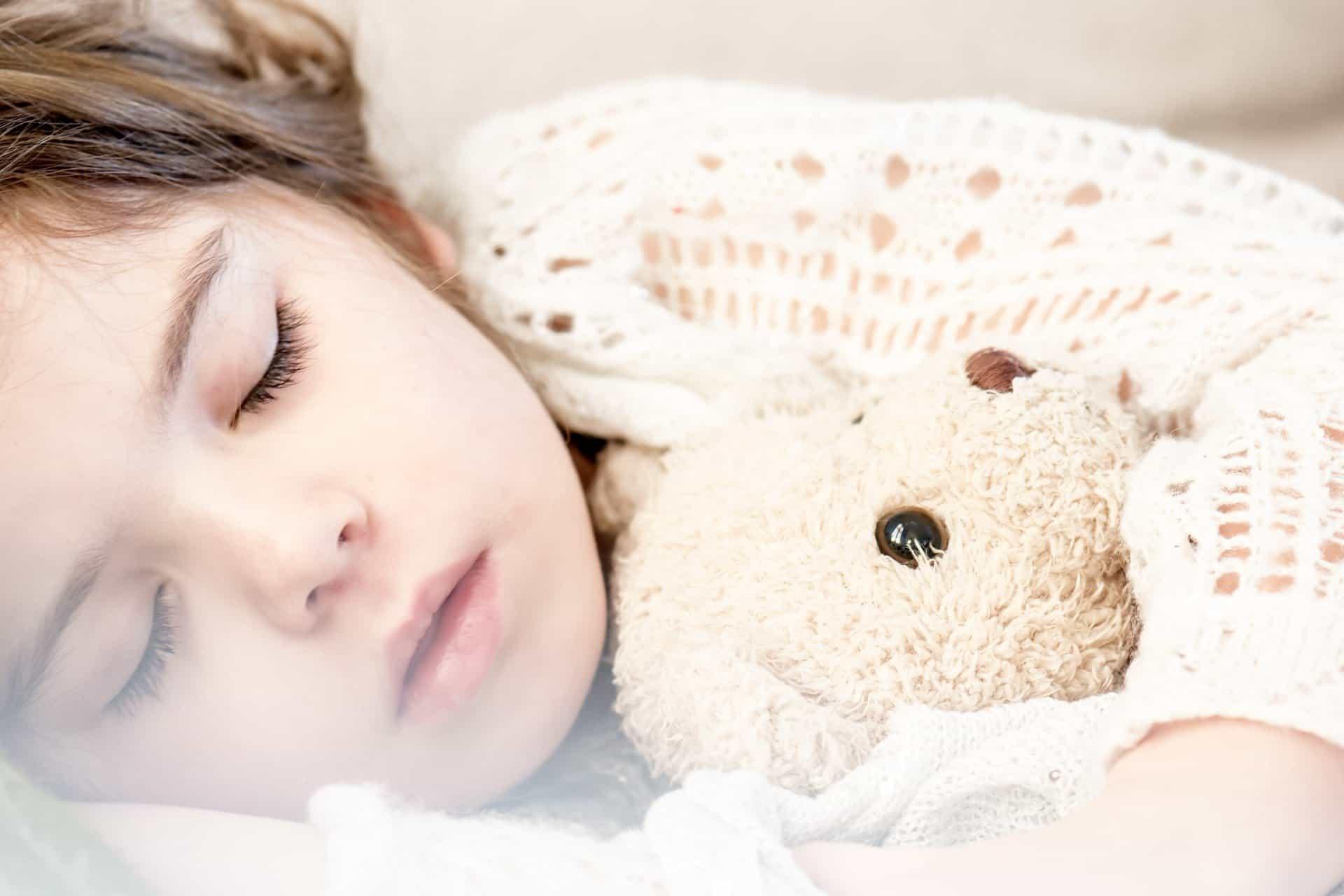 child sleeping nap time