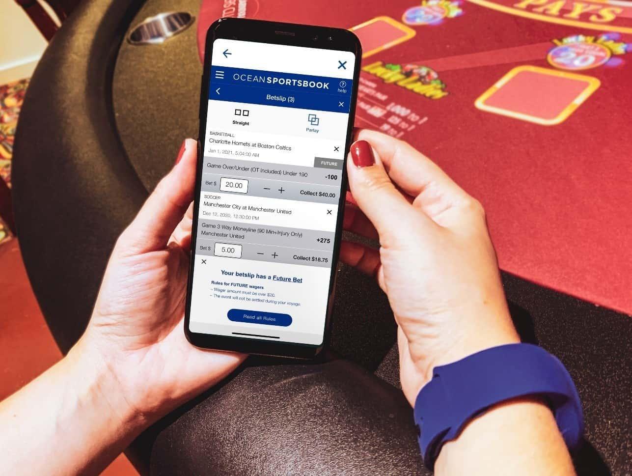 princess cruises ocean sportsbook gambling app