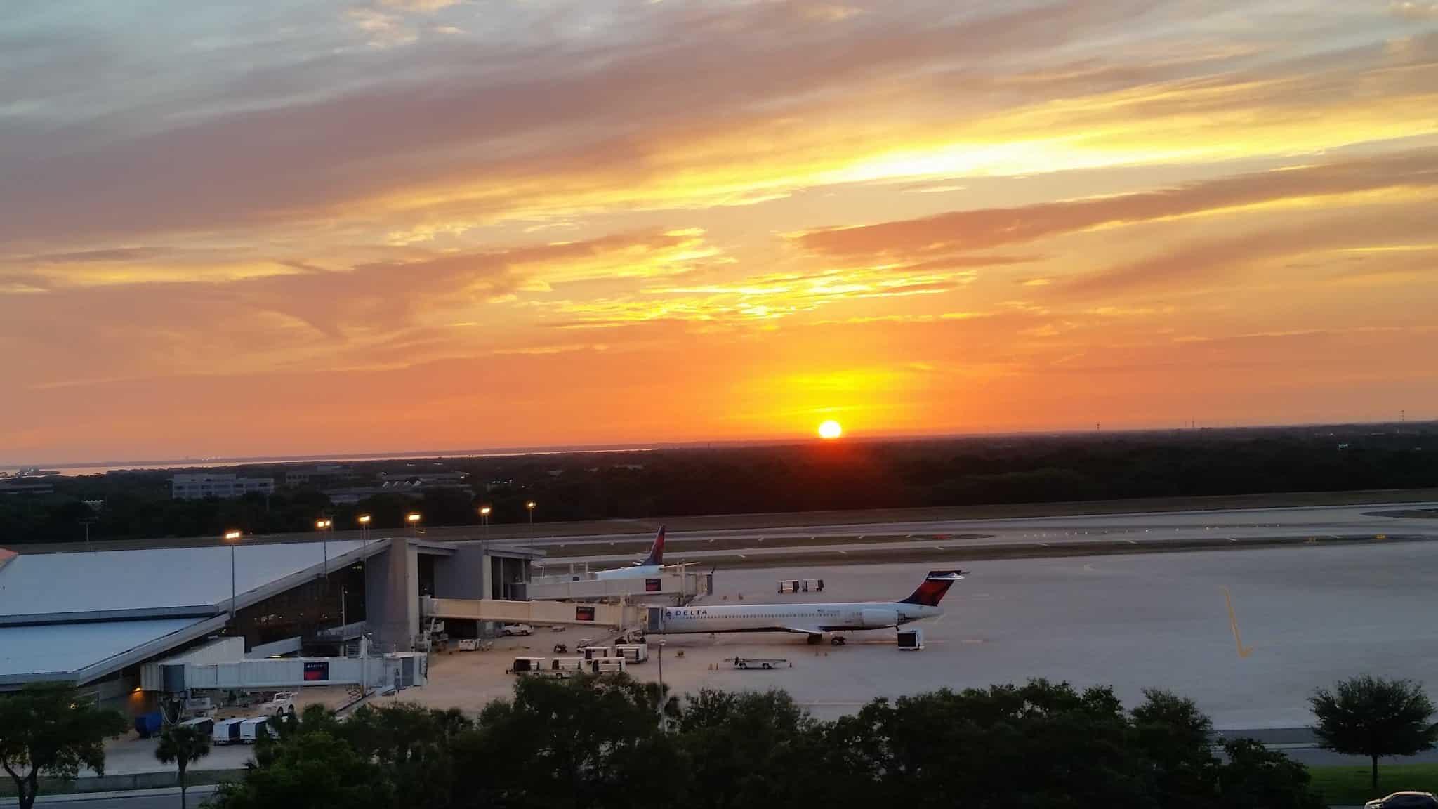 tampa international airport sunset