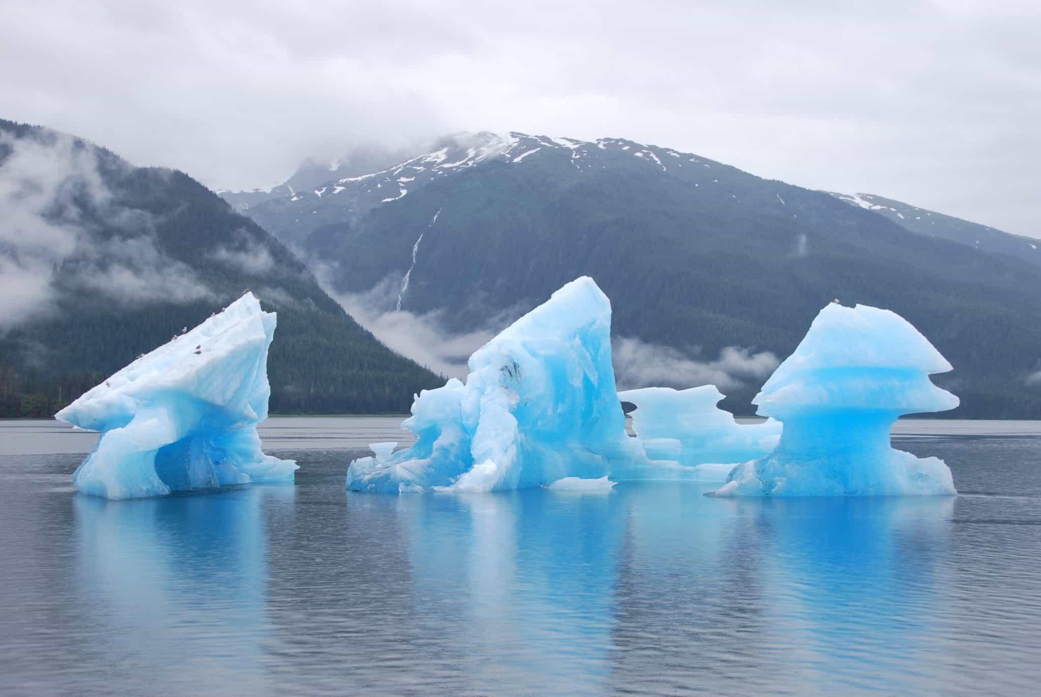 glacial icebergs alaska iceberg