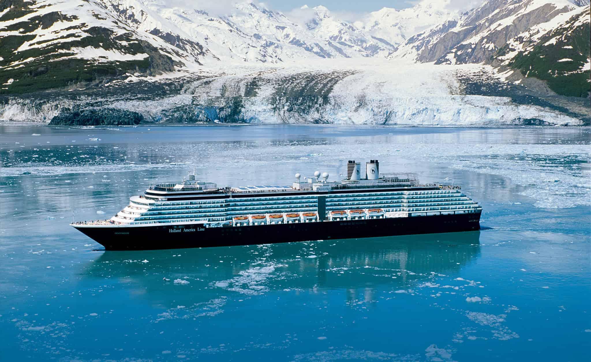 holland america oosterdam alaska glacier