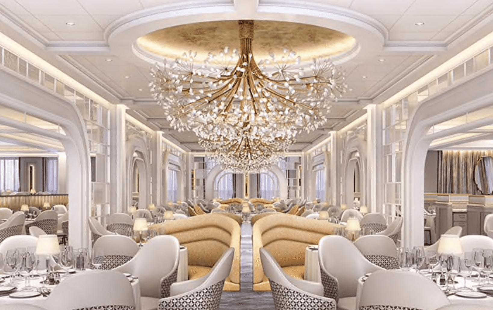 grand dining room oceania vista rendering
