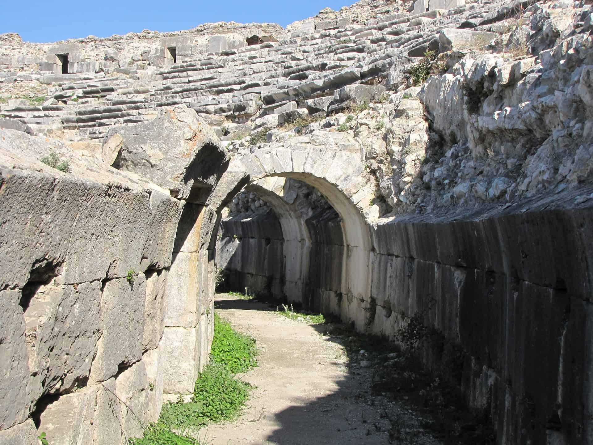 miletus amphitheatre turkey ruins pixabay