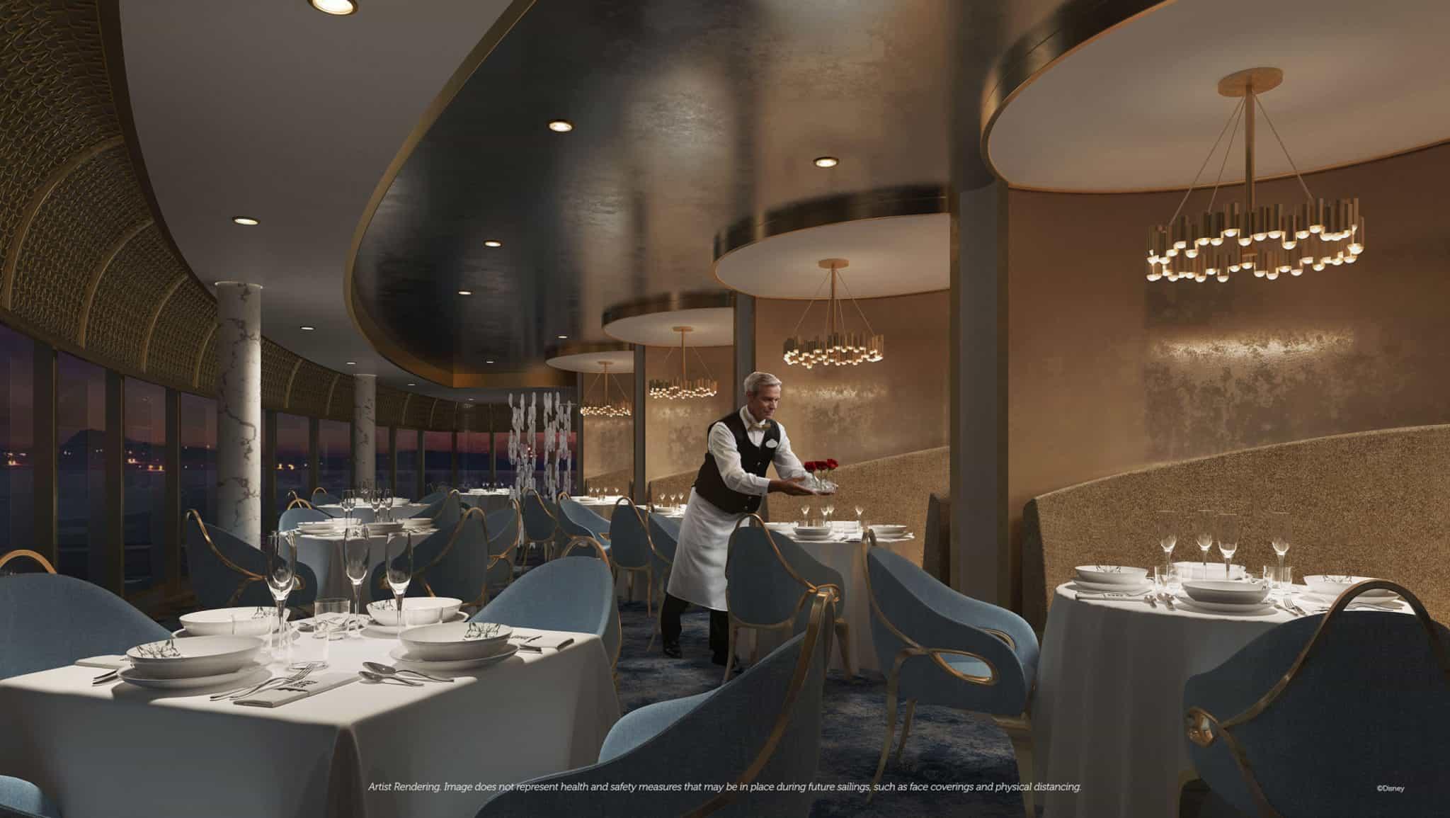 enchante dining restaurant disney wish