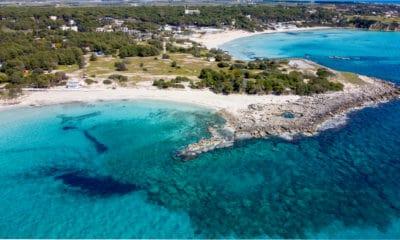 coastline taranto italy