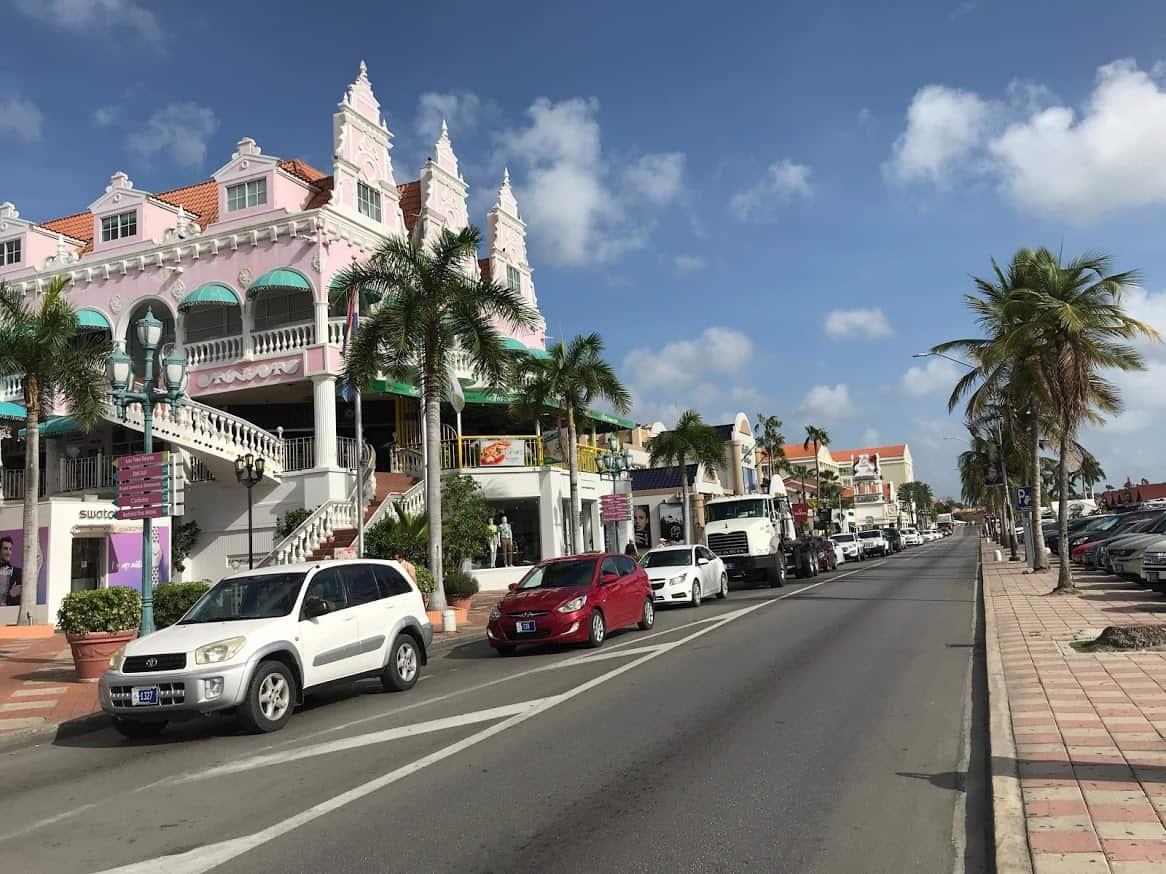 A street in Aruba