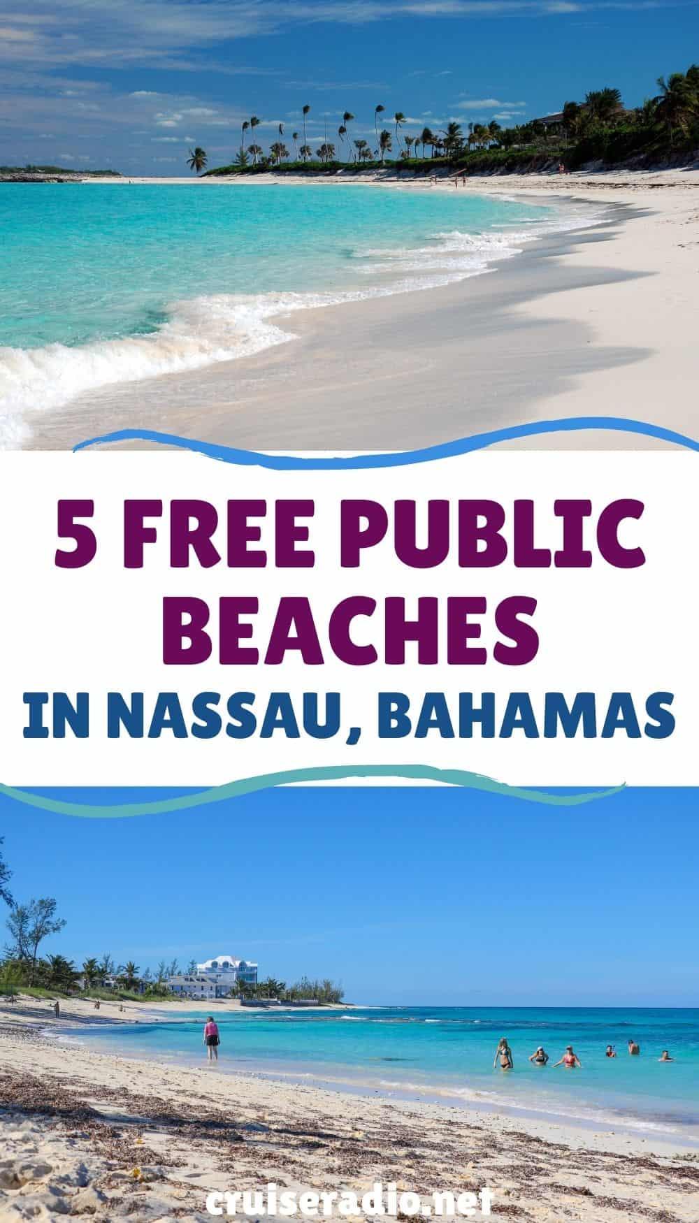 5 free public beaches in nassau, bahamas