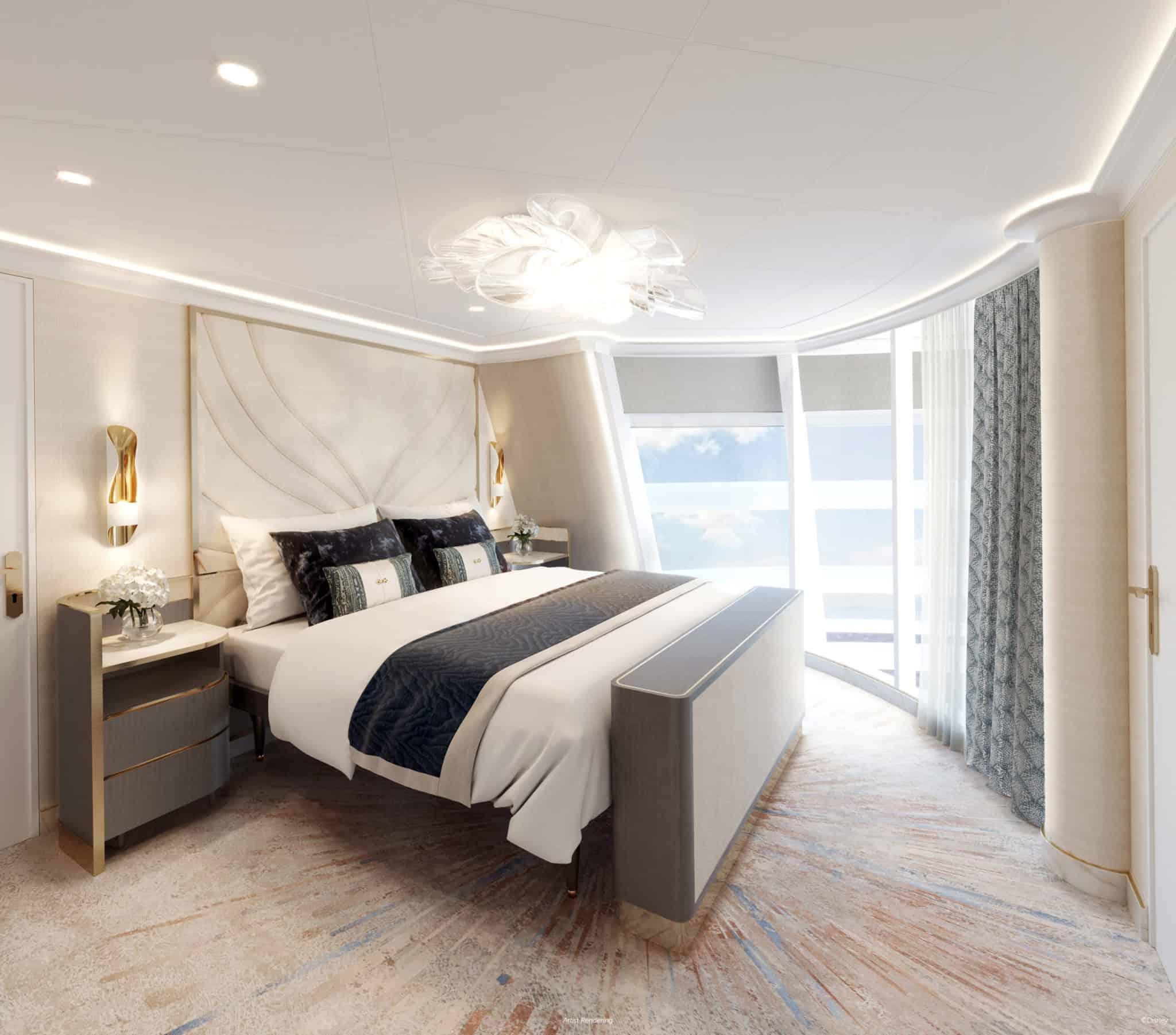 disney wish tower suite main bedroom