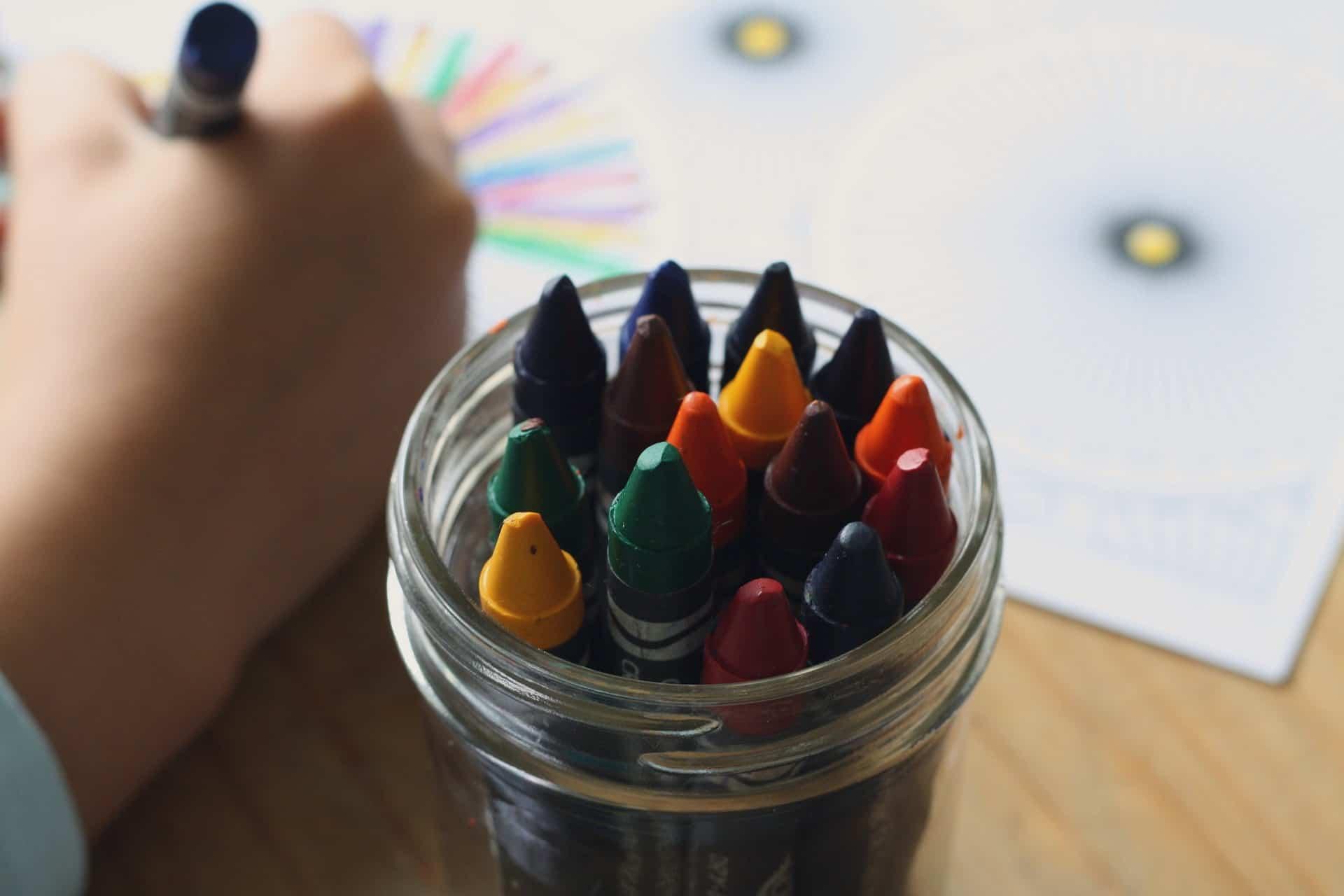 child coloring book crayons pixabay
