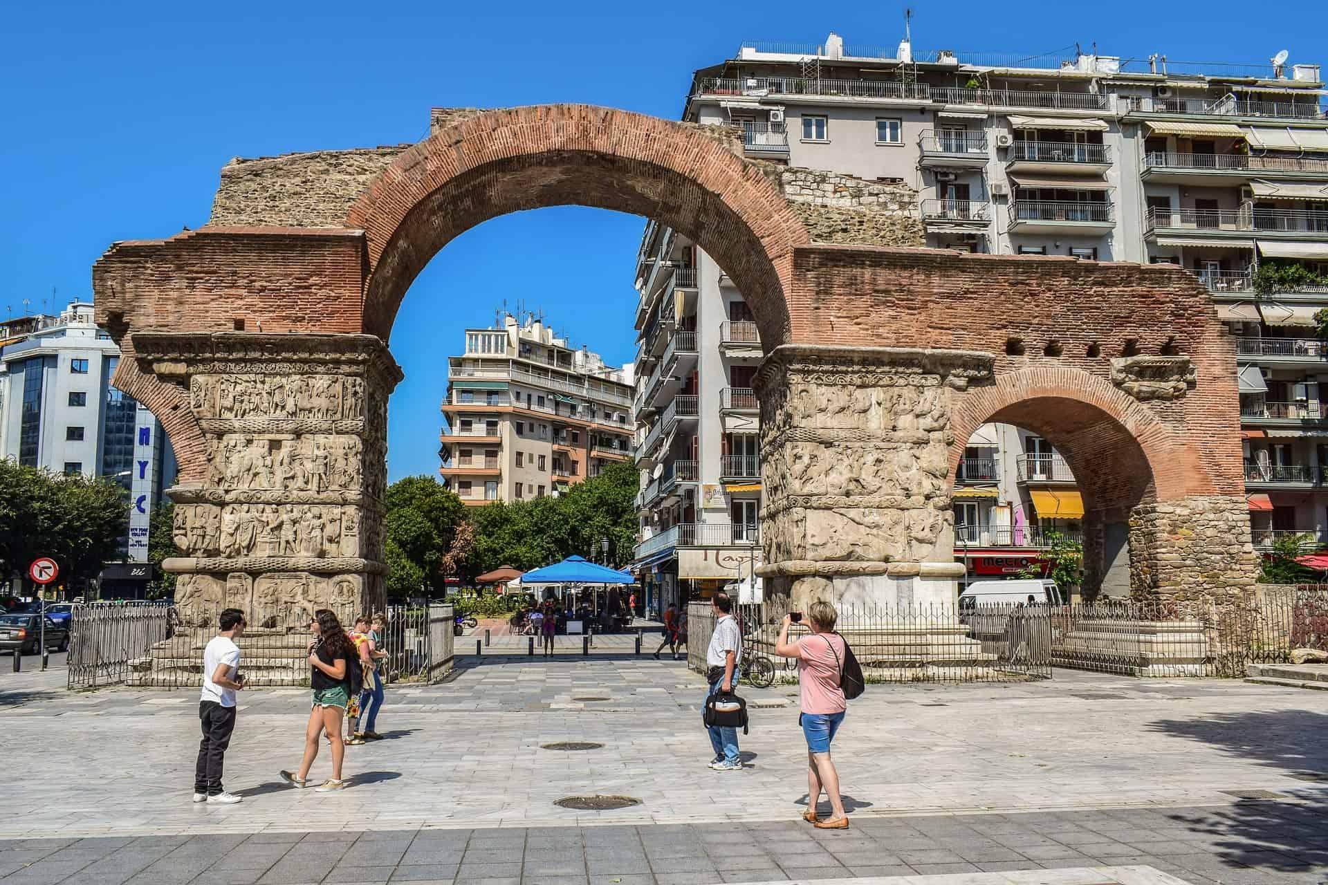 arch of galerius thessaloniki greece