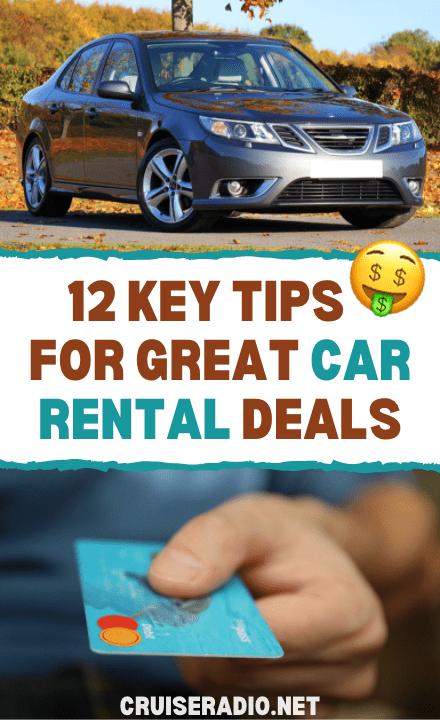 12 key tips for great car rental deals