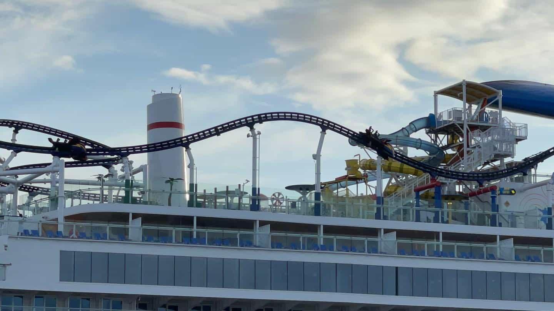 carnival cruise mardi gras BOLT roller coaster