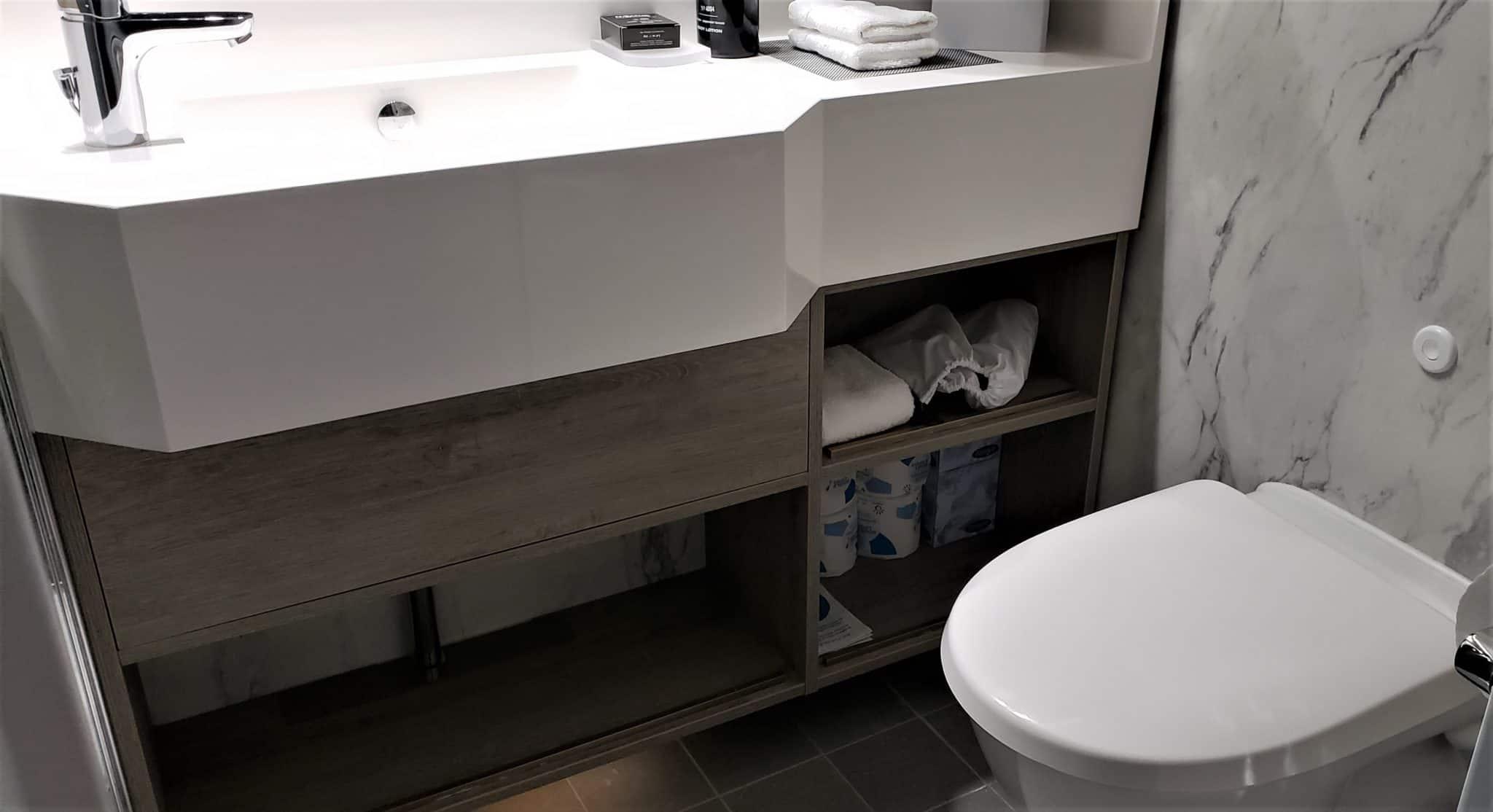 celebrity millennium aquaclass cabin bathroom
