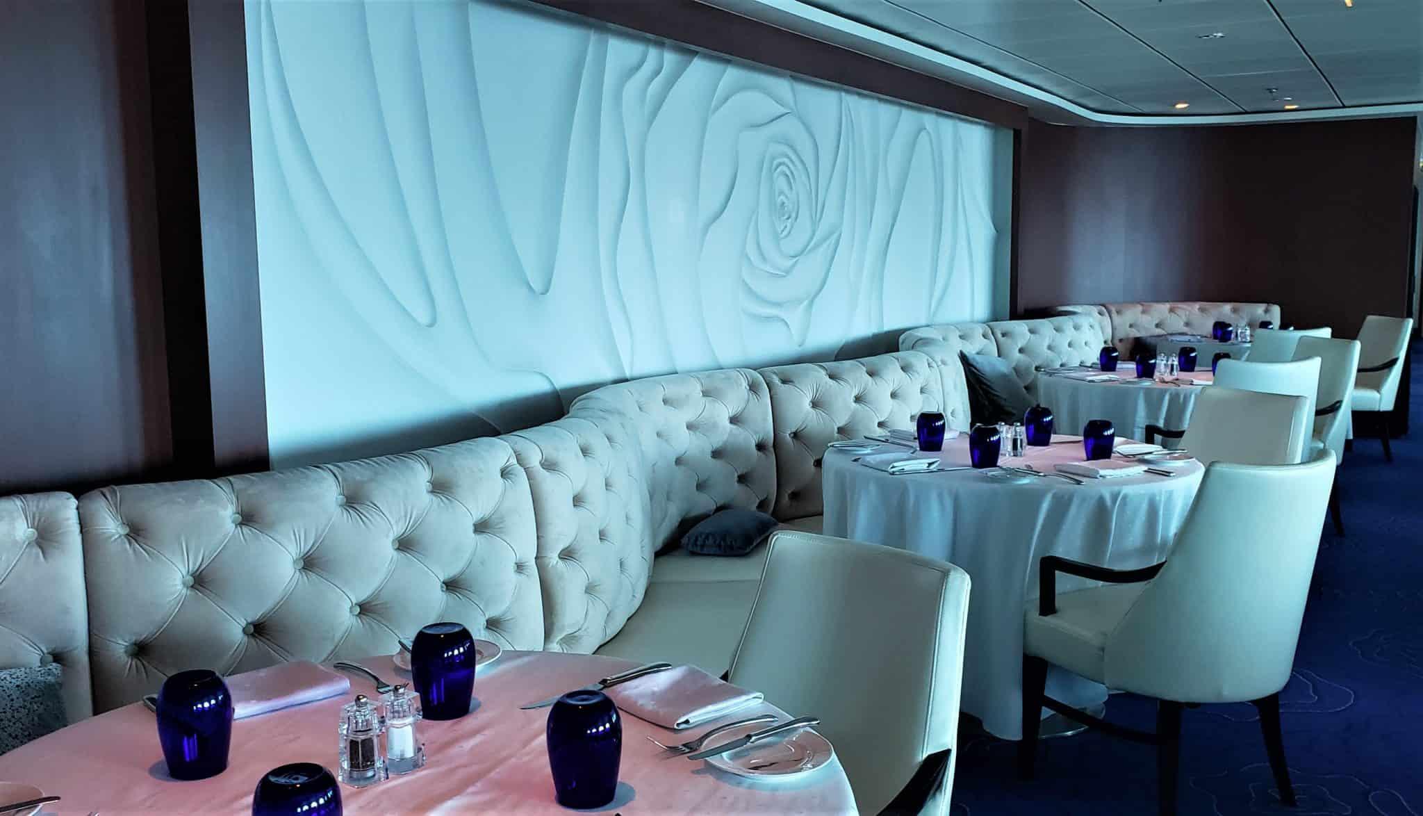 blu restaurant celebrity millennium susan young