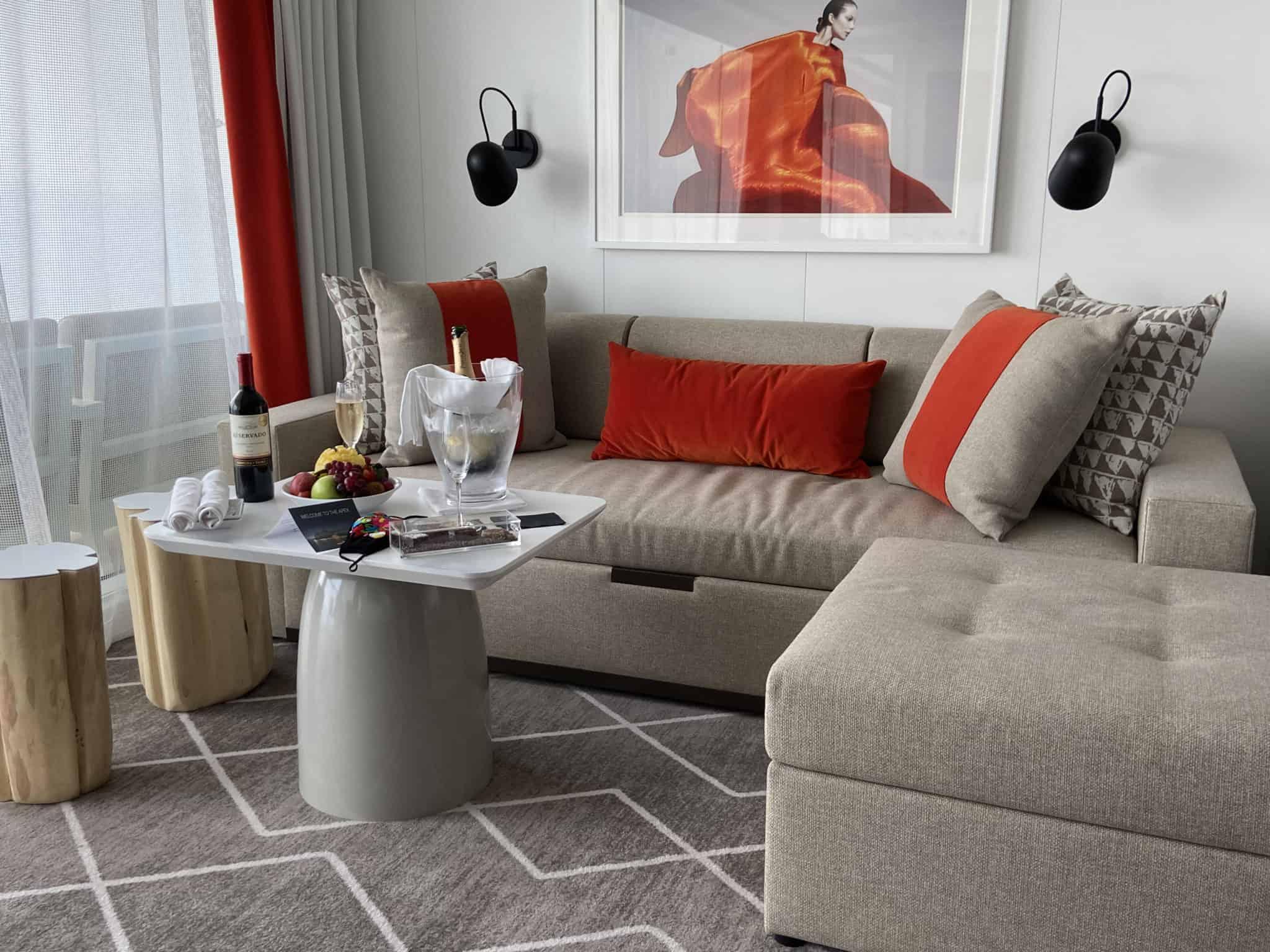celebrity apex suite living room