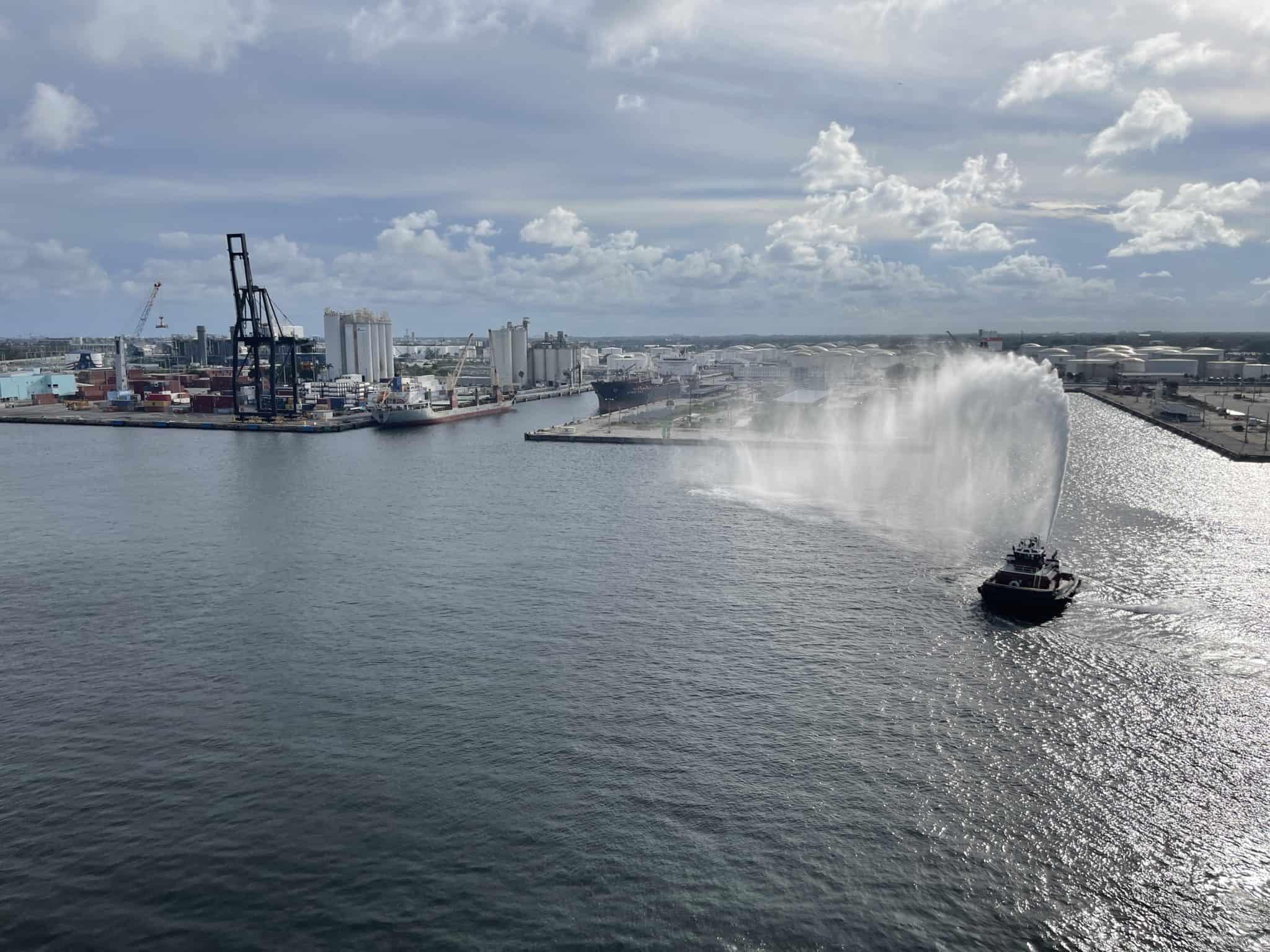 water cannon port everglades celebrity edge