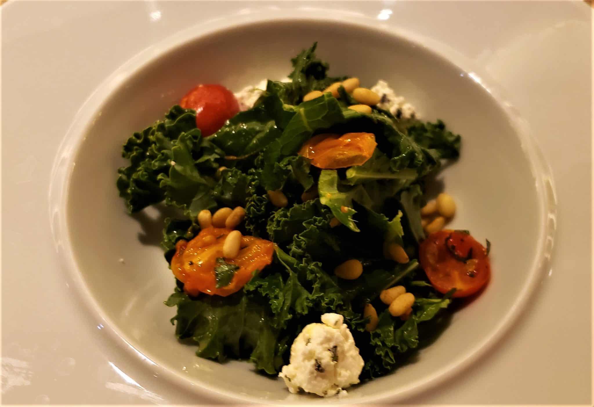 crispy kale salad luminae