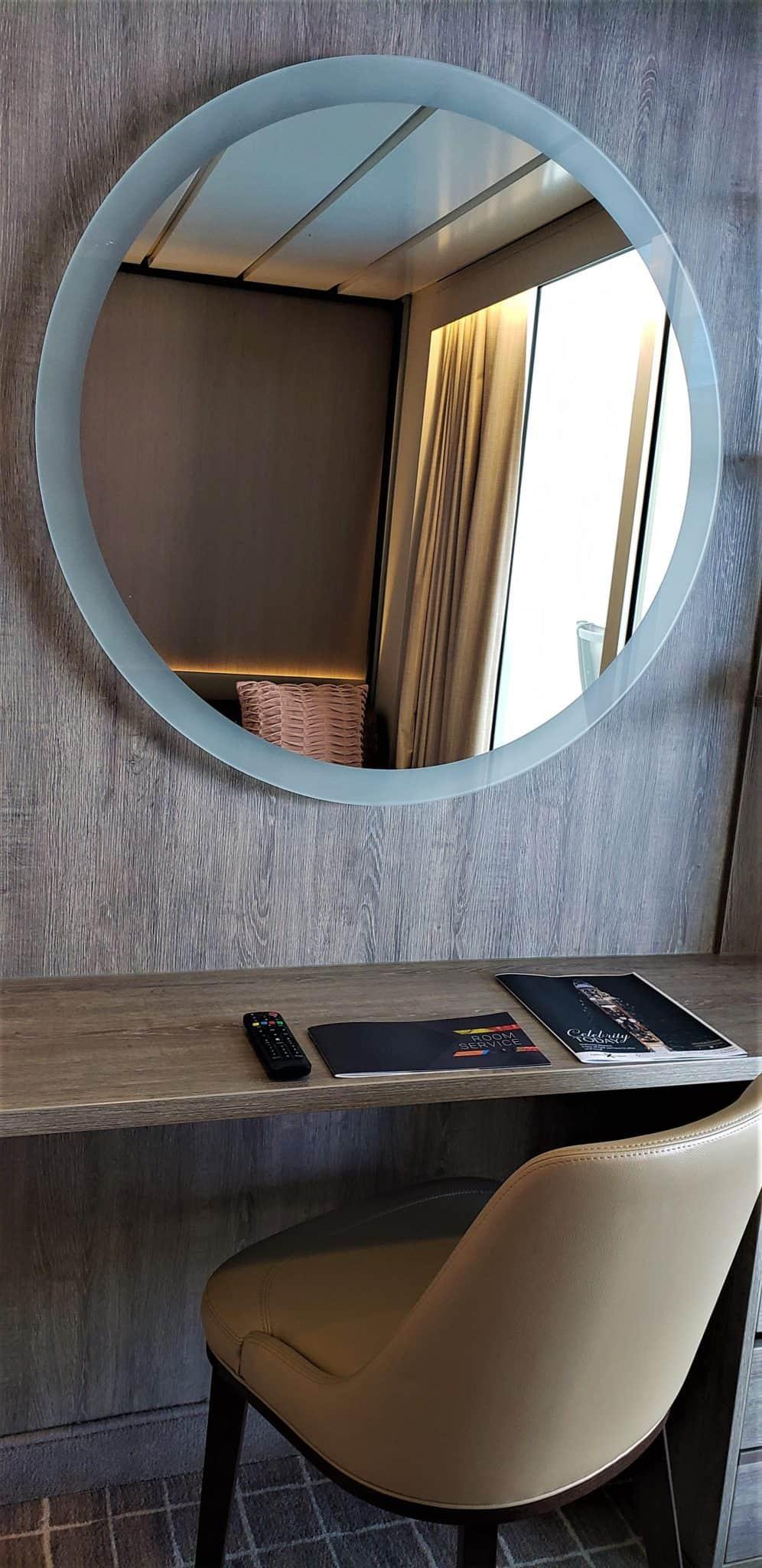 mirror and desk celebrity millennium cabin aquaclass