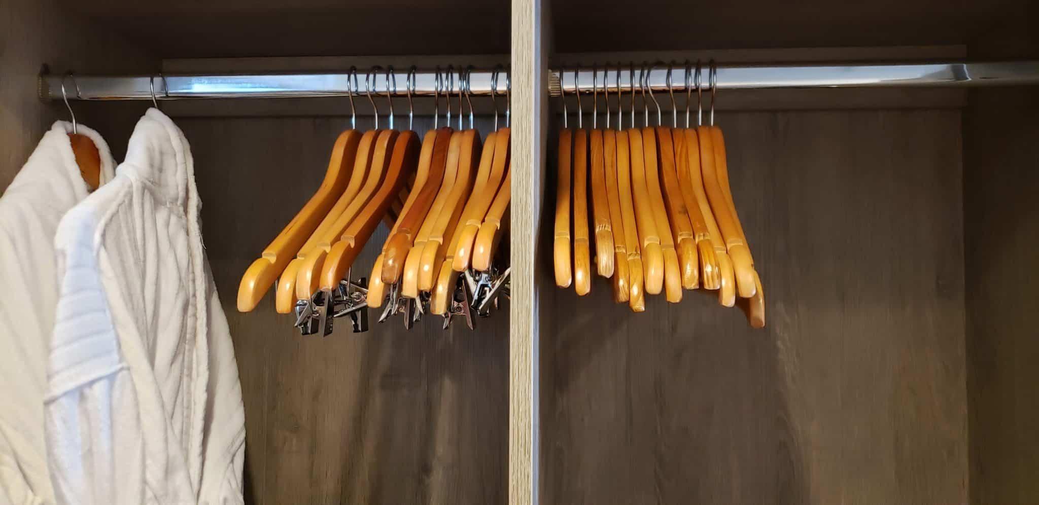 hanging clothes closet celebrity millennium aquaclass cabin