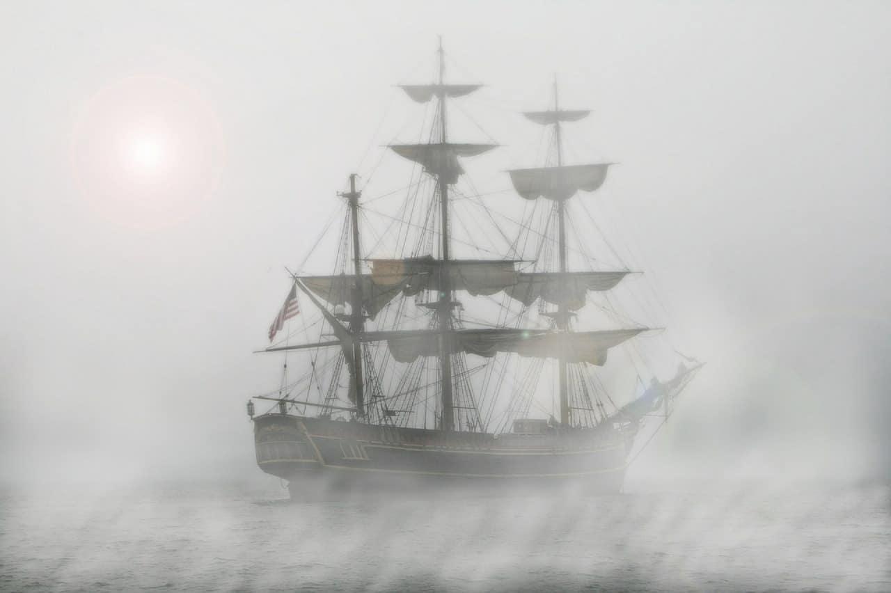 ship galleon sea ocean