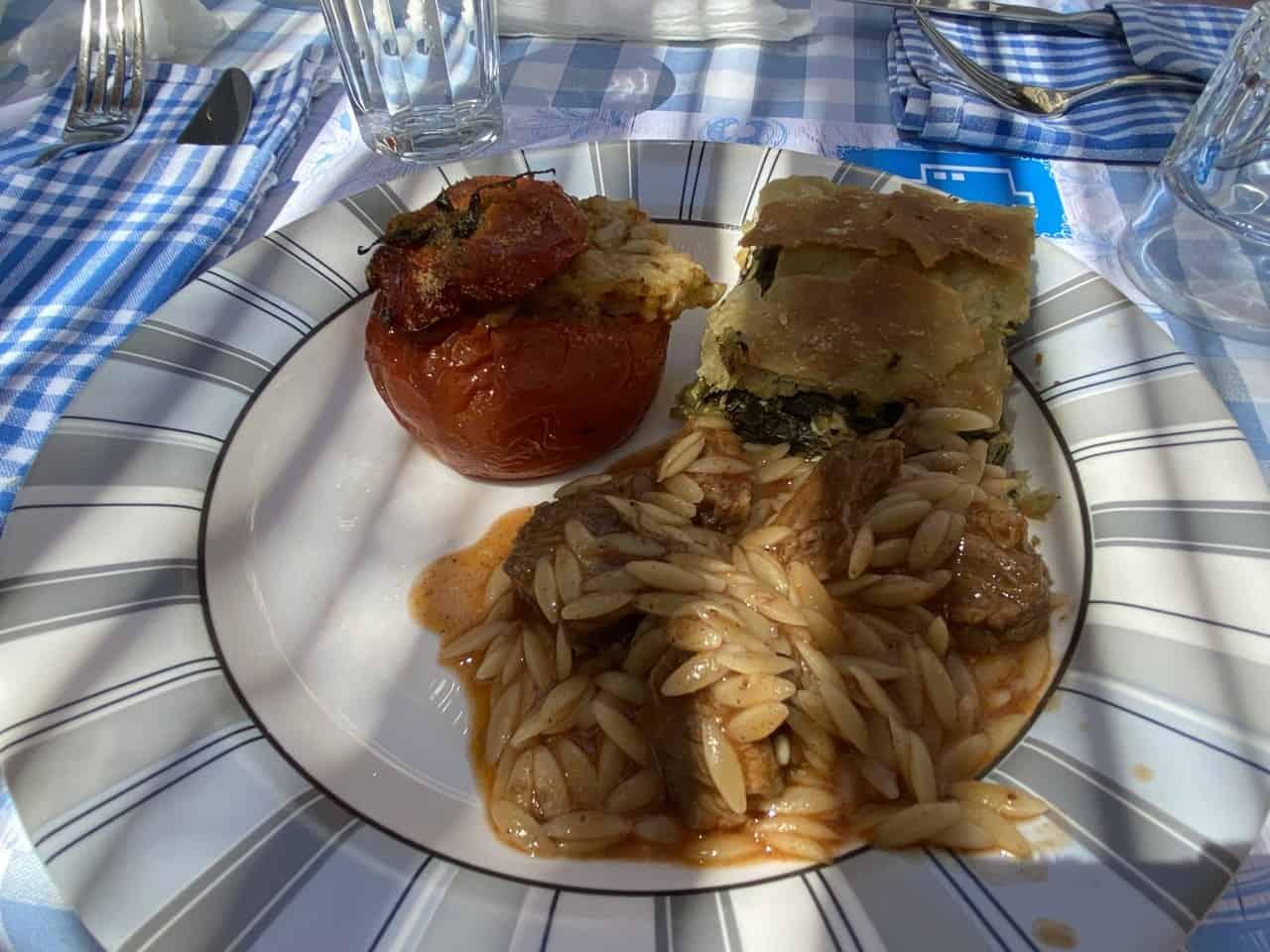 mykonos excursion meal