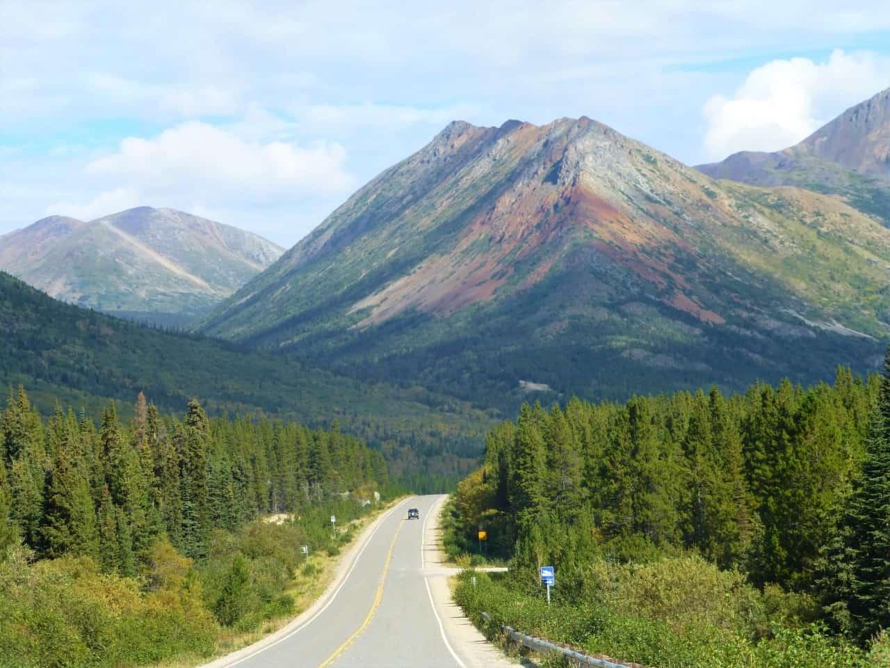 mountains road trip car