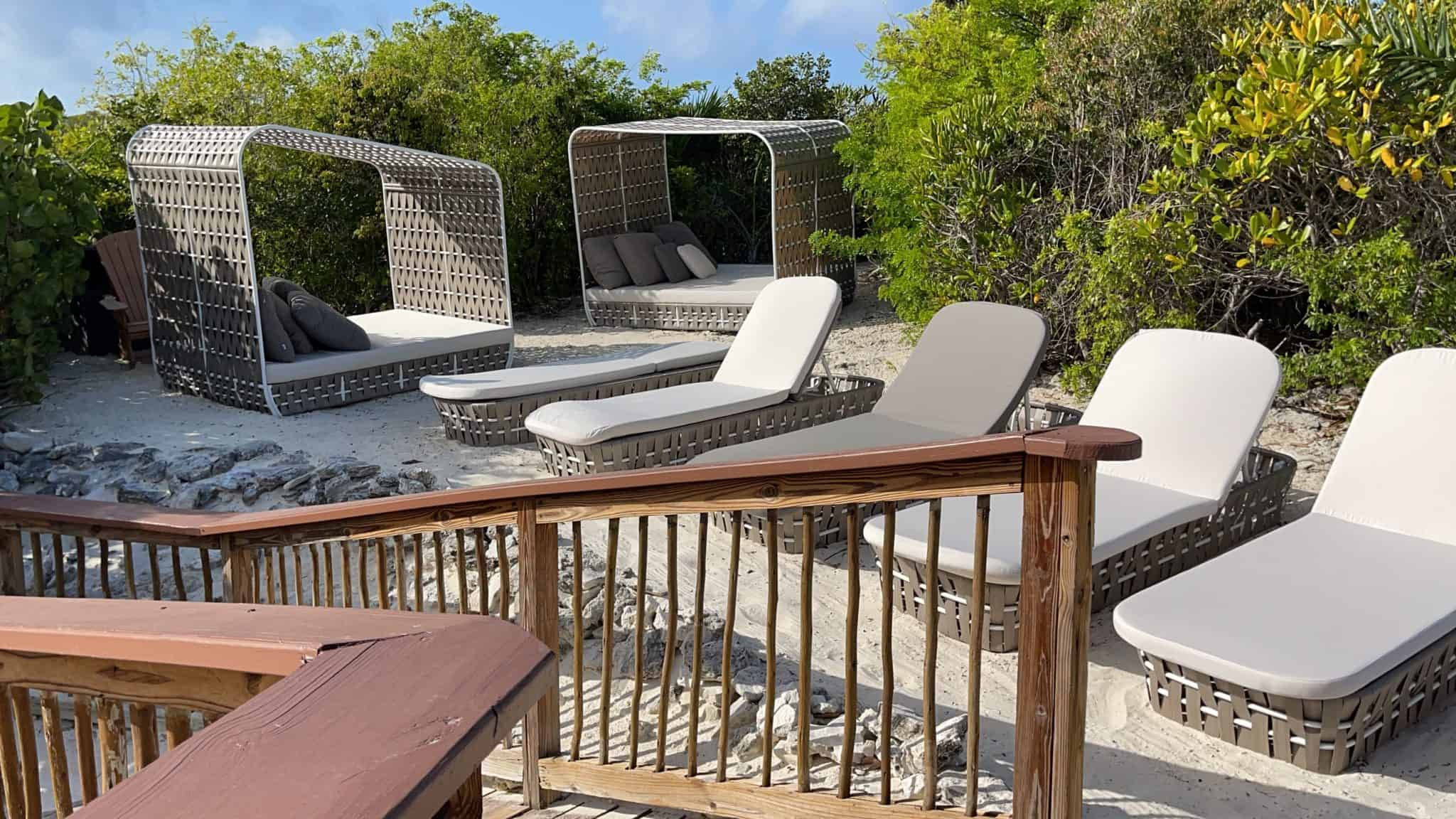 private oasis half moon cay loungers