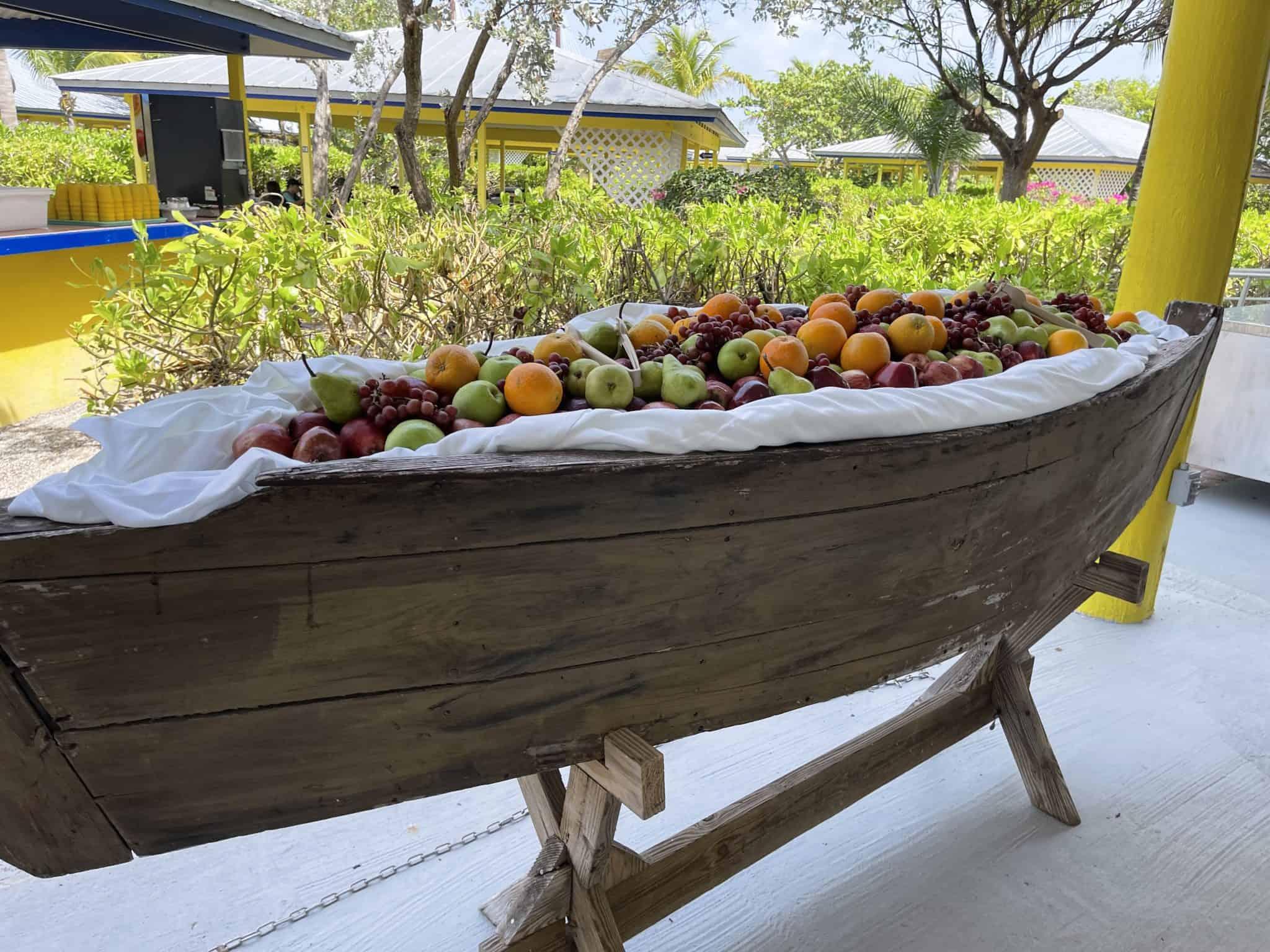 half moon cay fruit boat