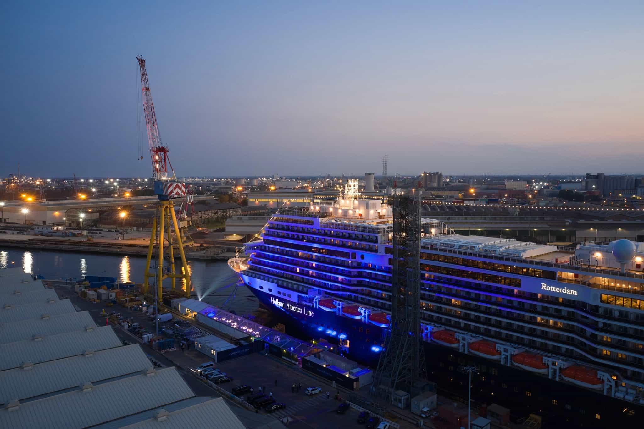 holland america rotterdam fincantieri shipyard italy
