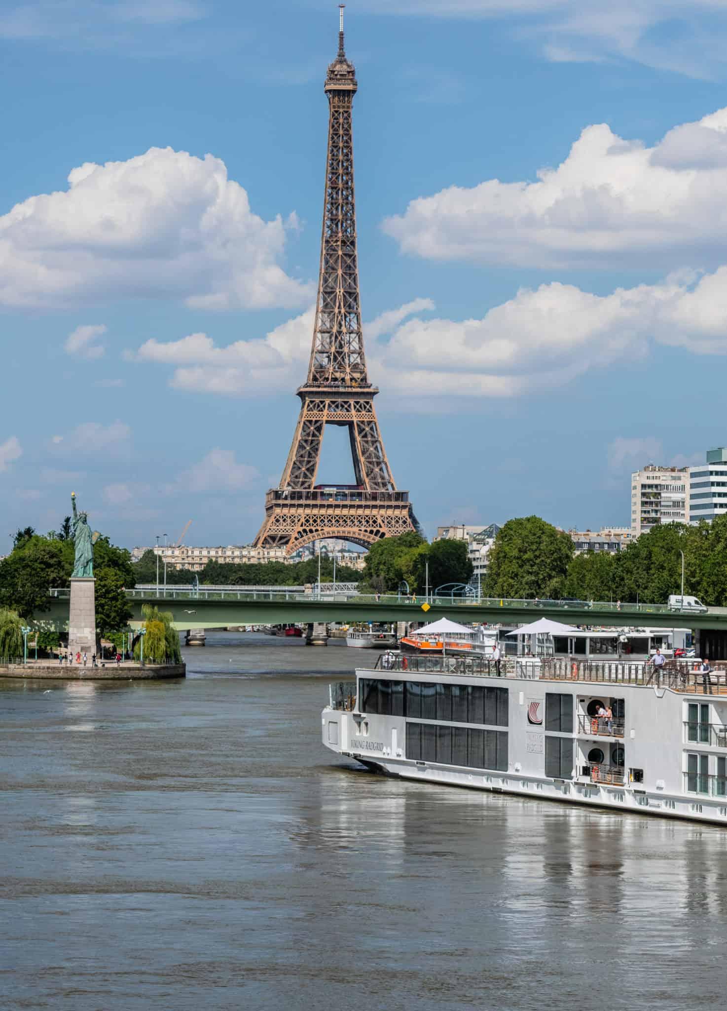 viking river cruises longship paris france eiffel tower